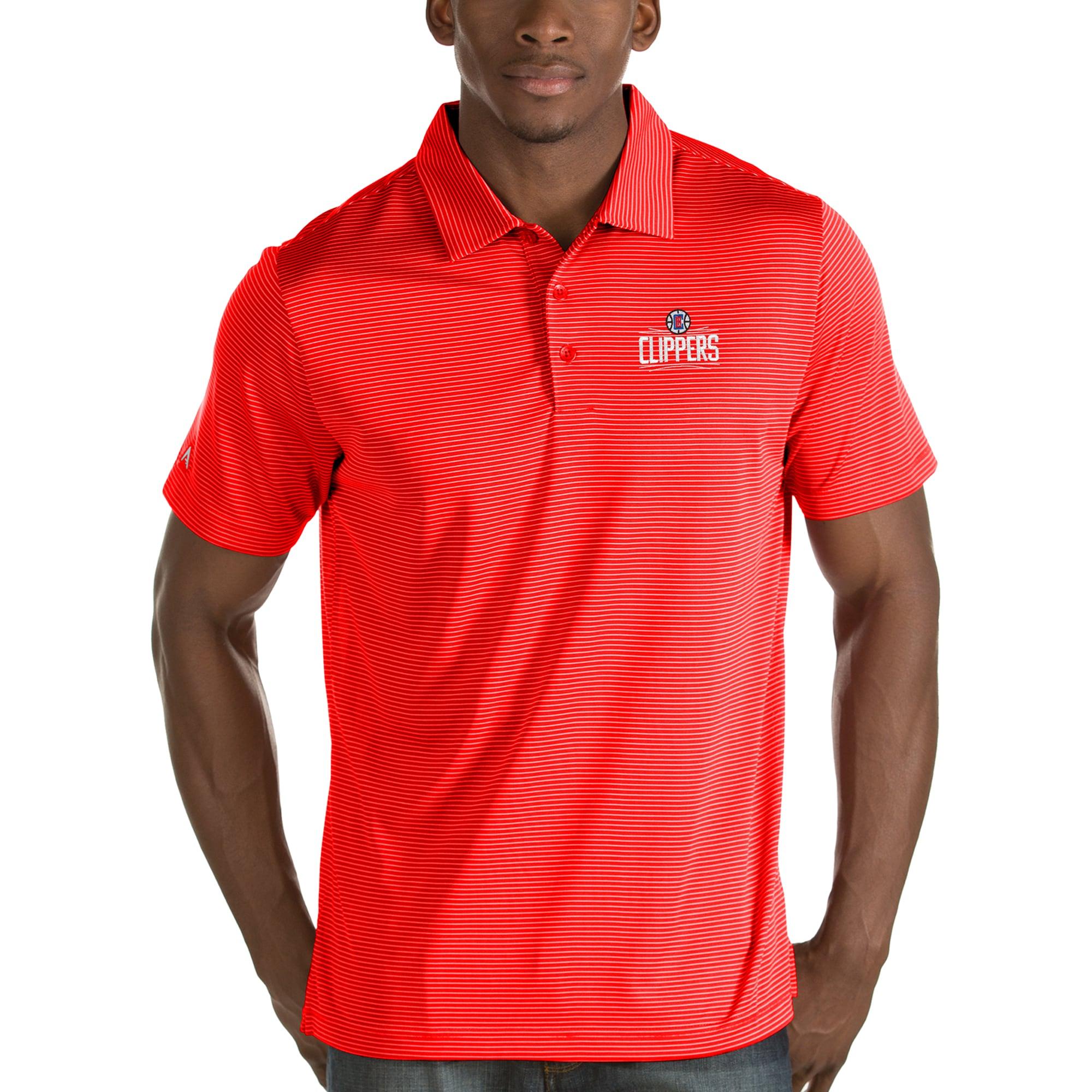 LA Clippers Antigua Quest Polo - Red