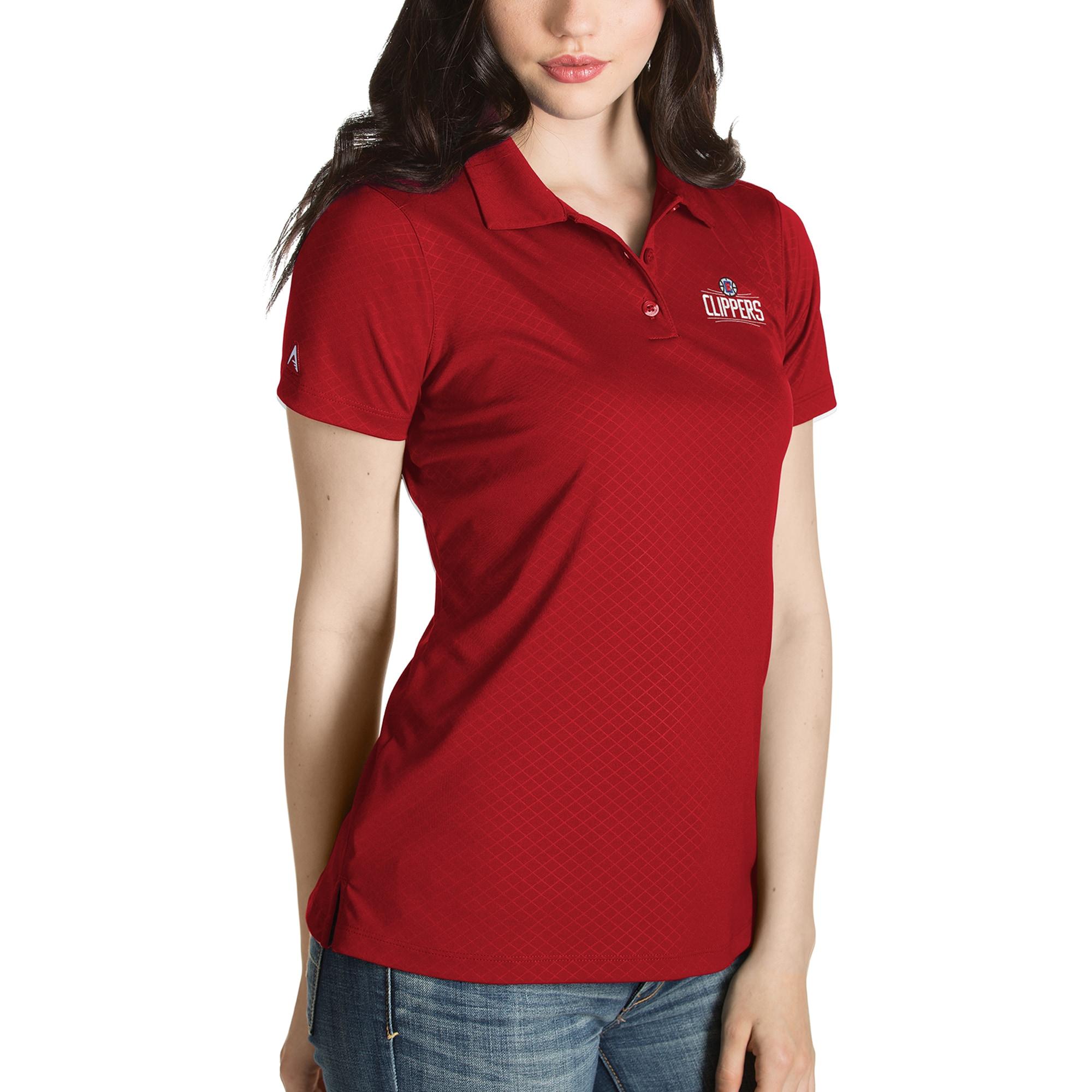 LA Clippers Antigua Women's Inspire Polo - Red