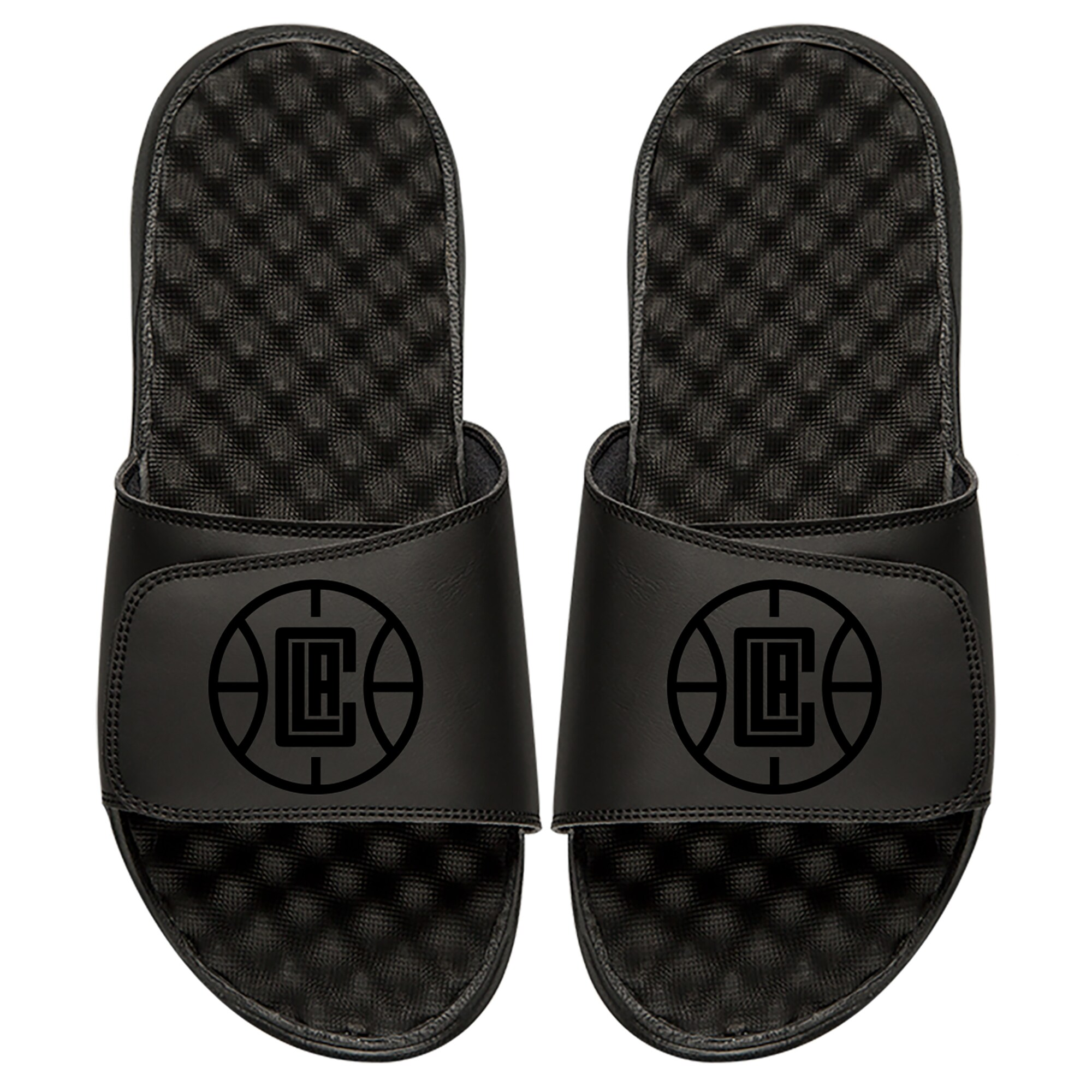 LA Clippers ISlide Youth Tonal Slide Sandals - Black