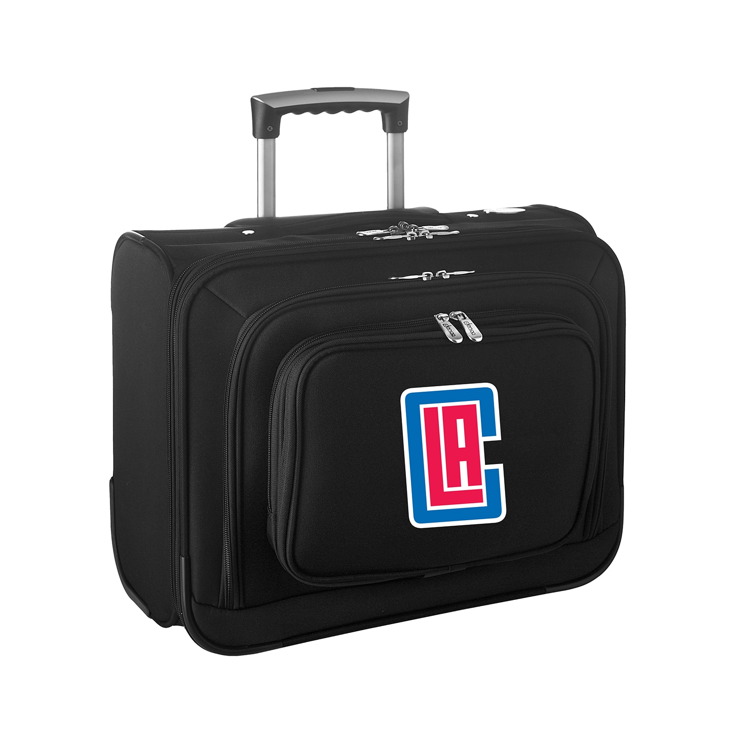 """LA Clippers 14"""" 2-Wheeled Laptop Overnighter Travel Case - Black"""