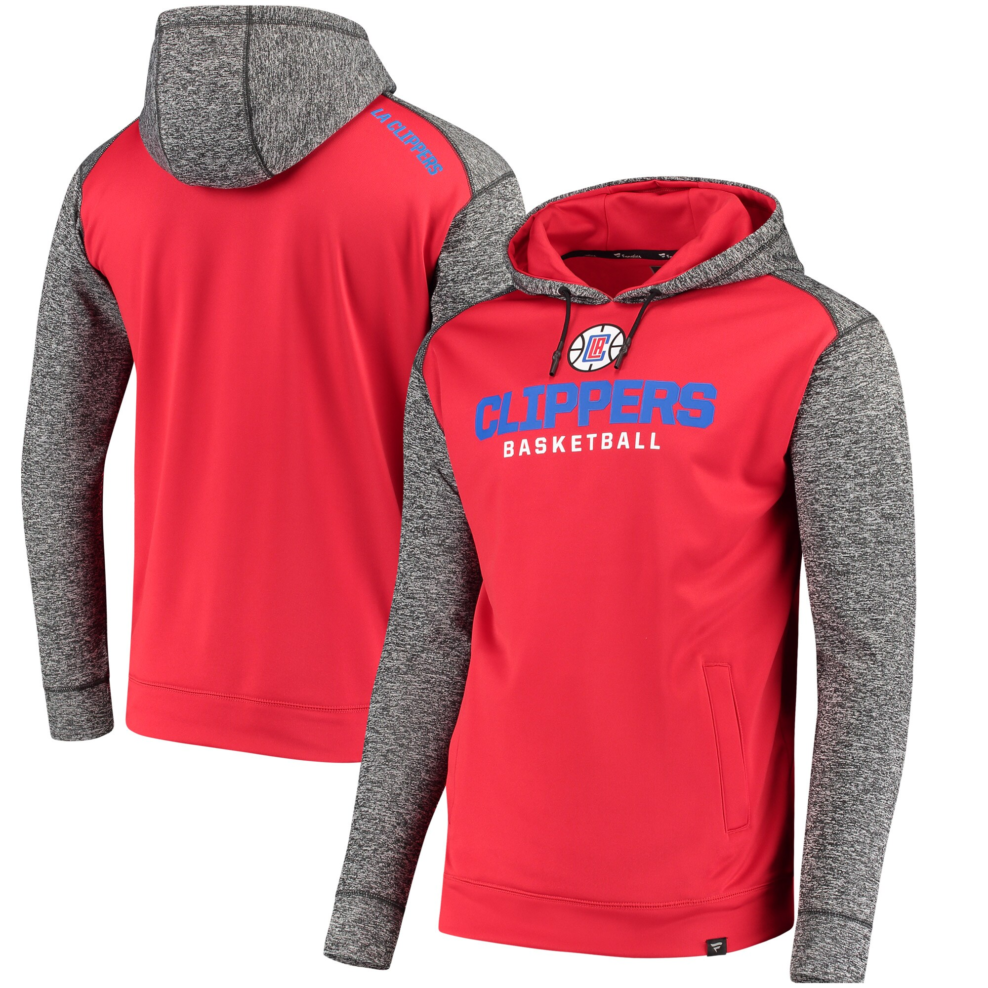 LA Clippers Fanatics Branded Static Fleece Pullover Hoodie - Red