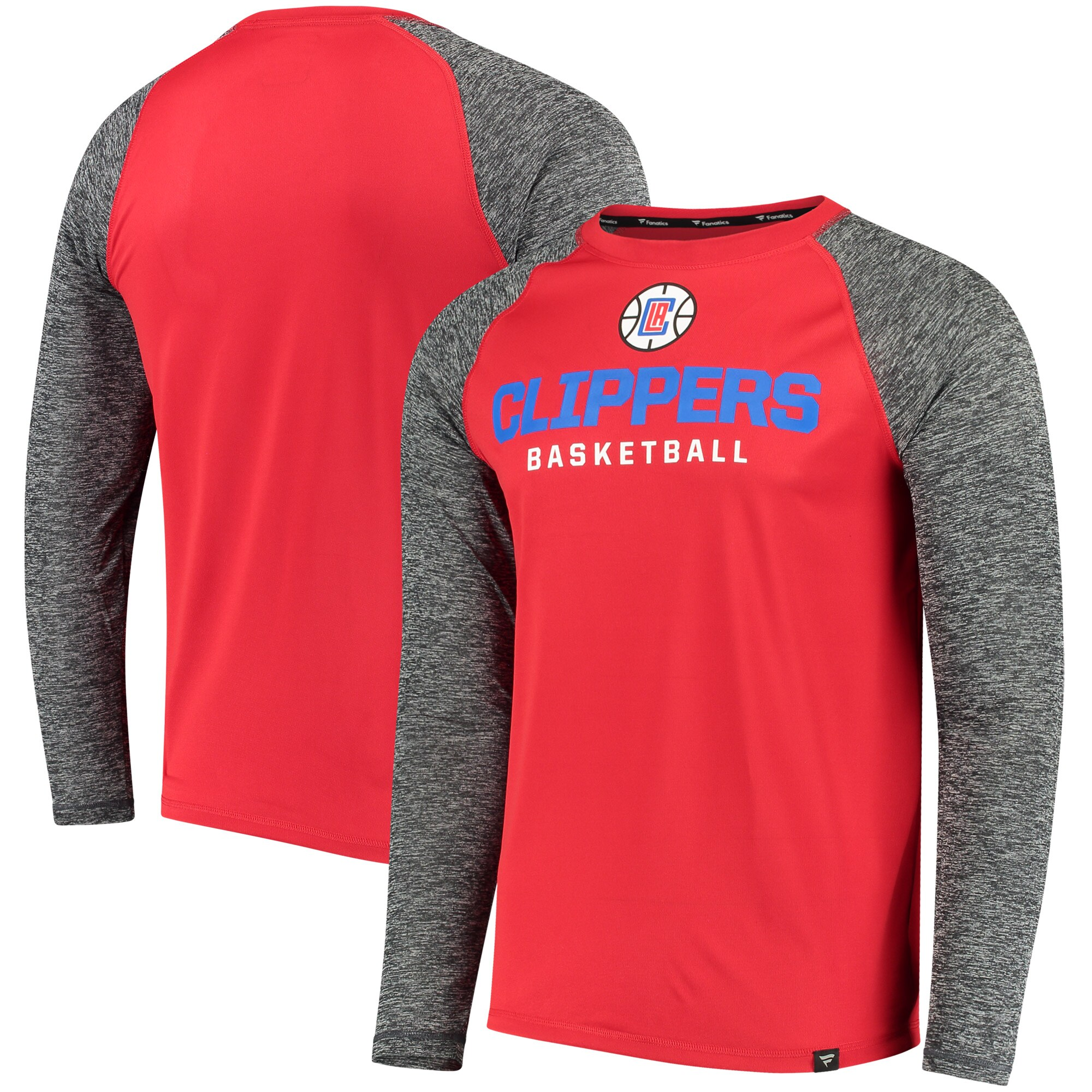 LA Clippers Fanatics Branded Static Long Sleeve T-Shirt - Red