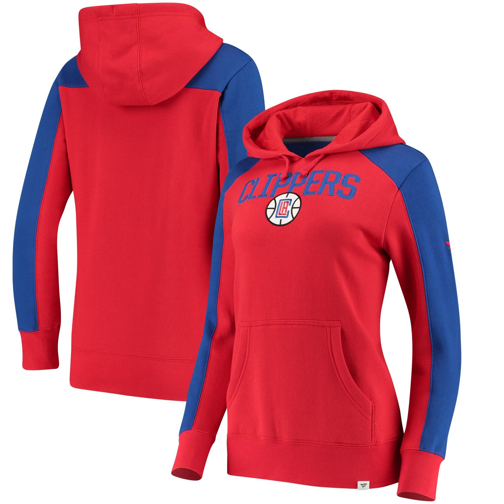 LA Clippers Fanatics Branded Women's Iconic Fleece Hoodie - Red/Royal
