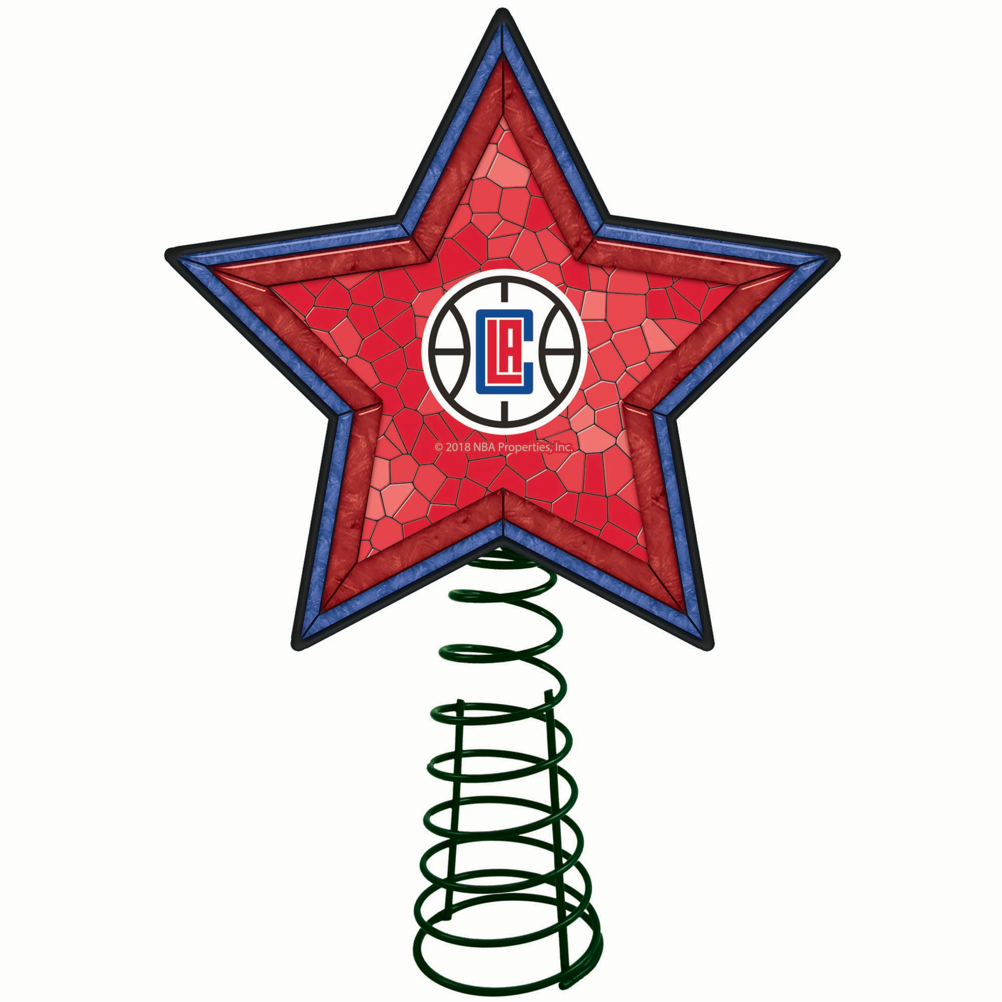 LA Clippers Mosaic Tree Topper