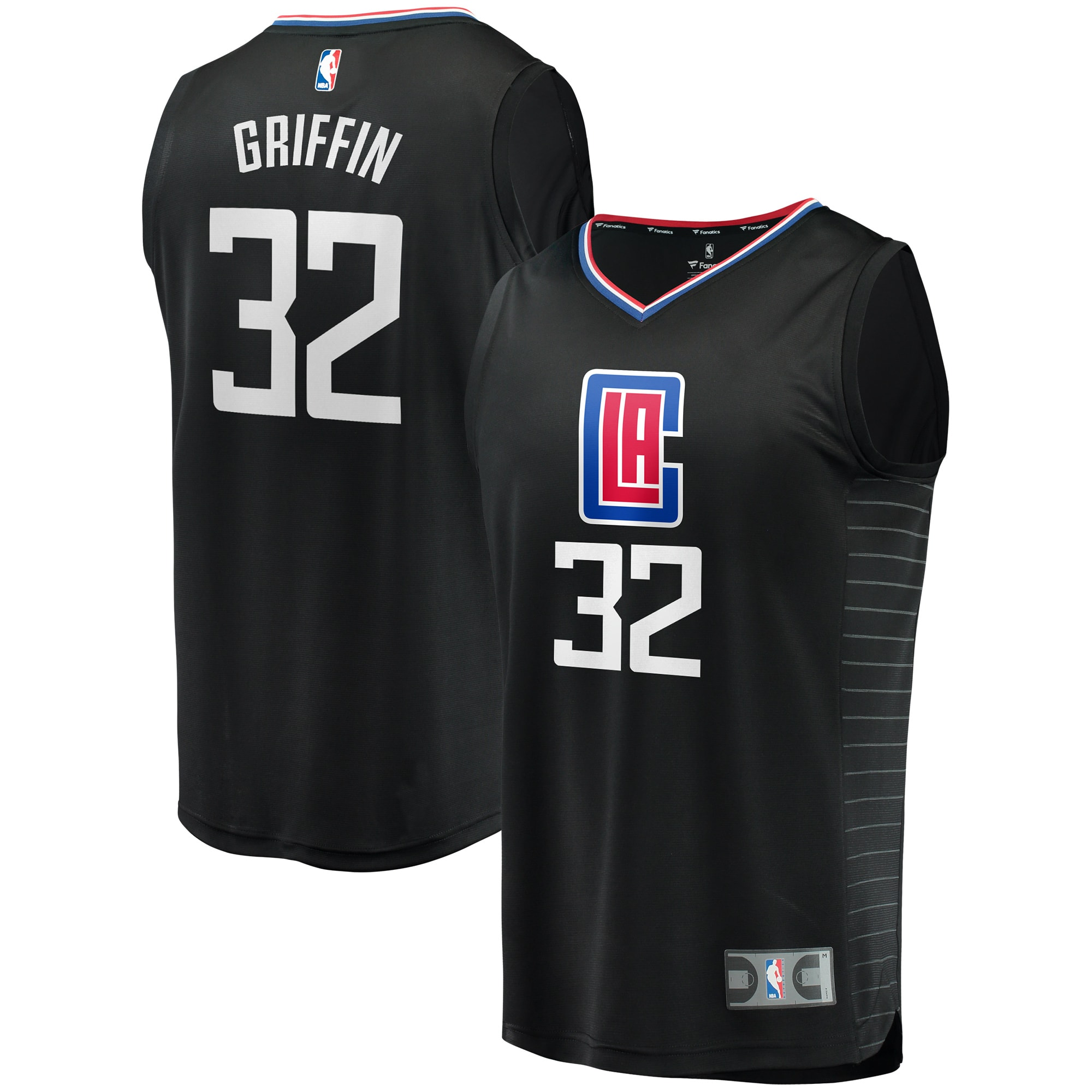 Blake Griffin LA Clippers Fanatics Branded Youth Fast Break Replica Jersey Black - Statement Edition