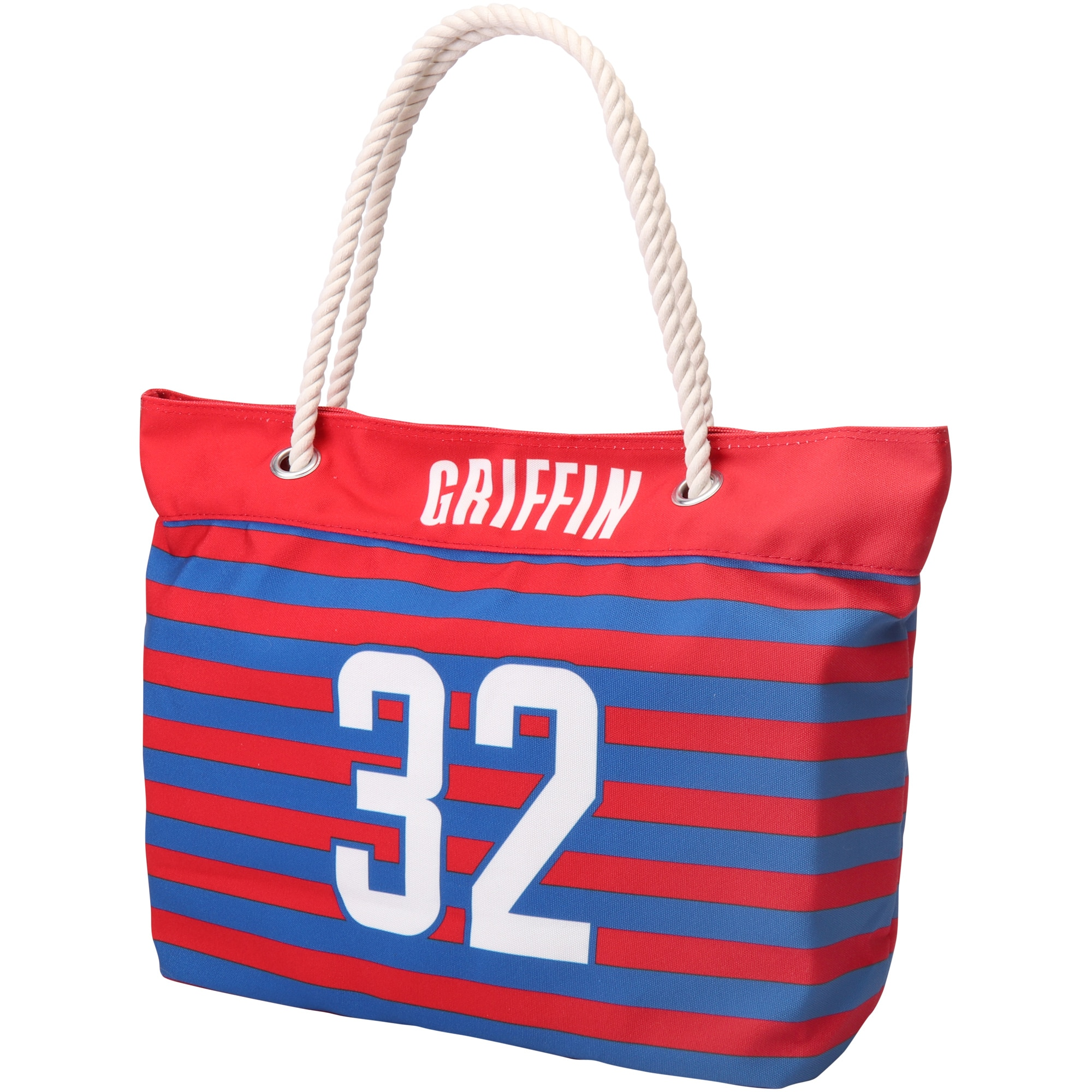 Blake Griffin LA Clippers Women's Player Nautical Stripe Tote Bag - Red