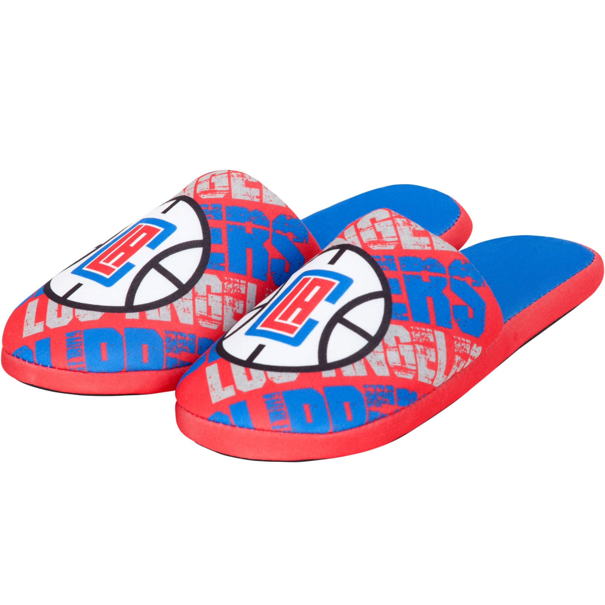 LA Clippers Digital Print Slippers - Red