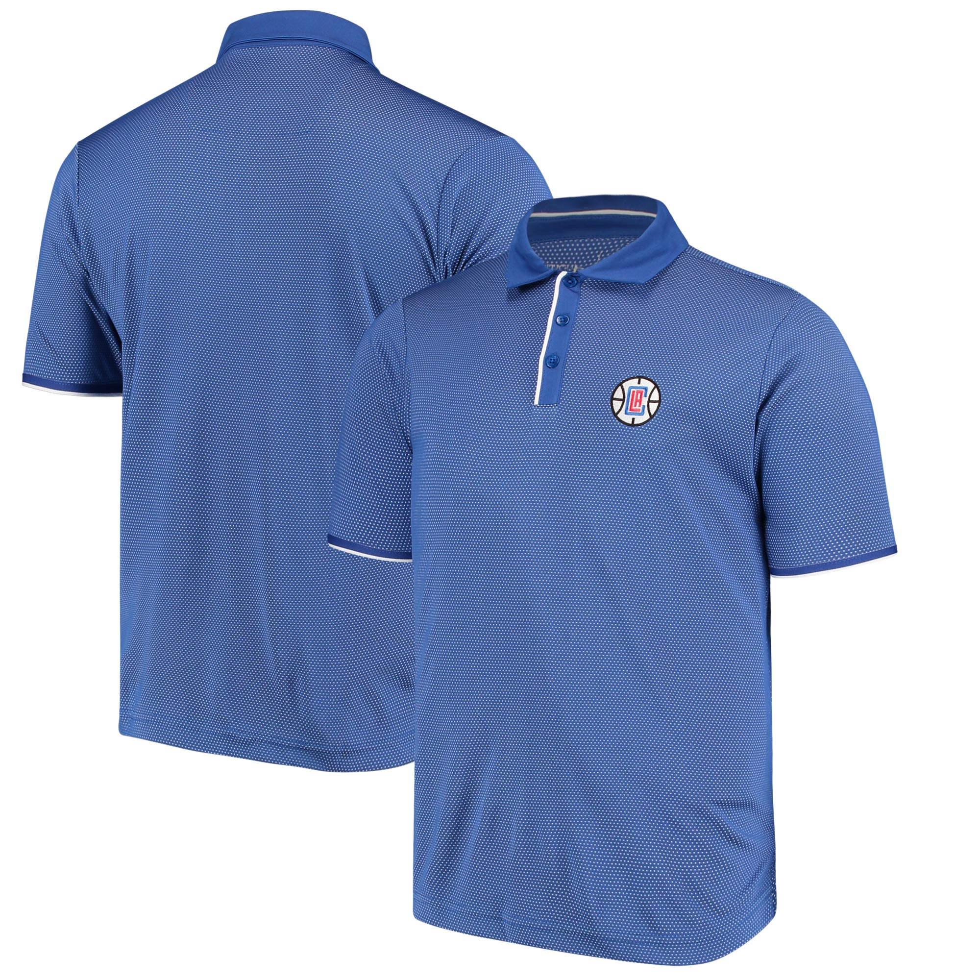 LA Clippers Antigua Logo Draft Polo - Royal/White