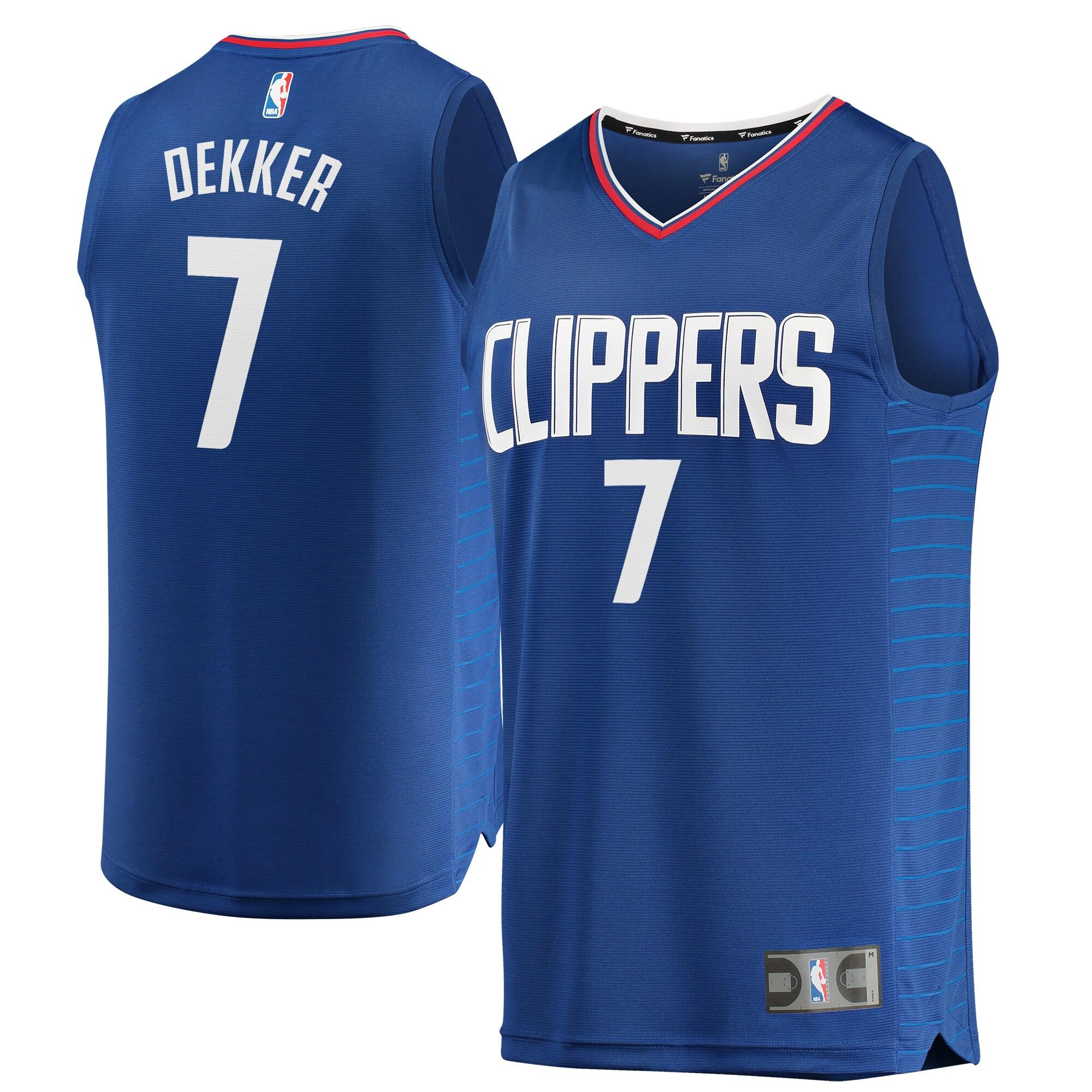 Sam Dekker LA Clippers Fanatics Branded Youth Fast Break Replica Jersey Blue - Icon Edition