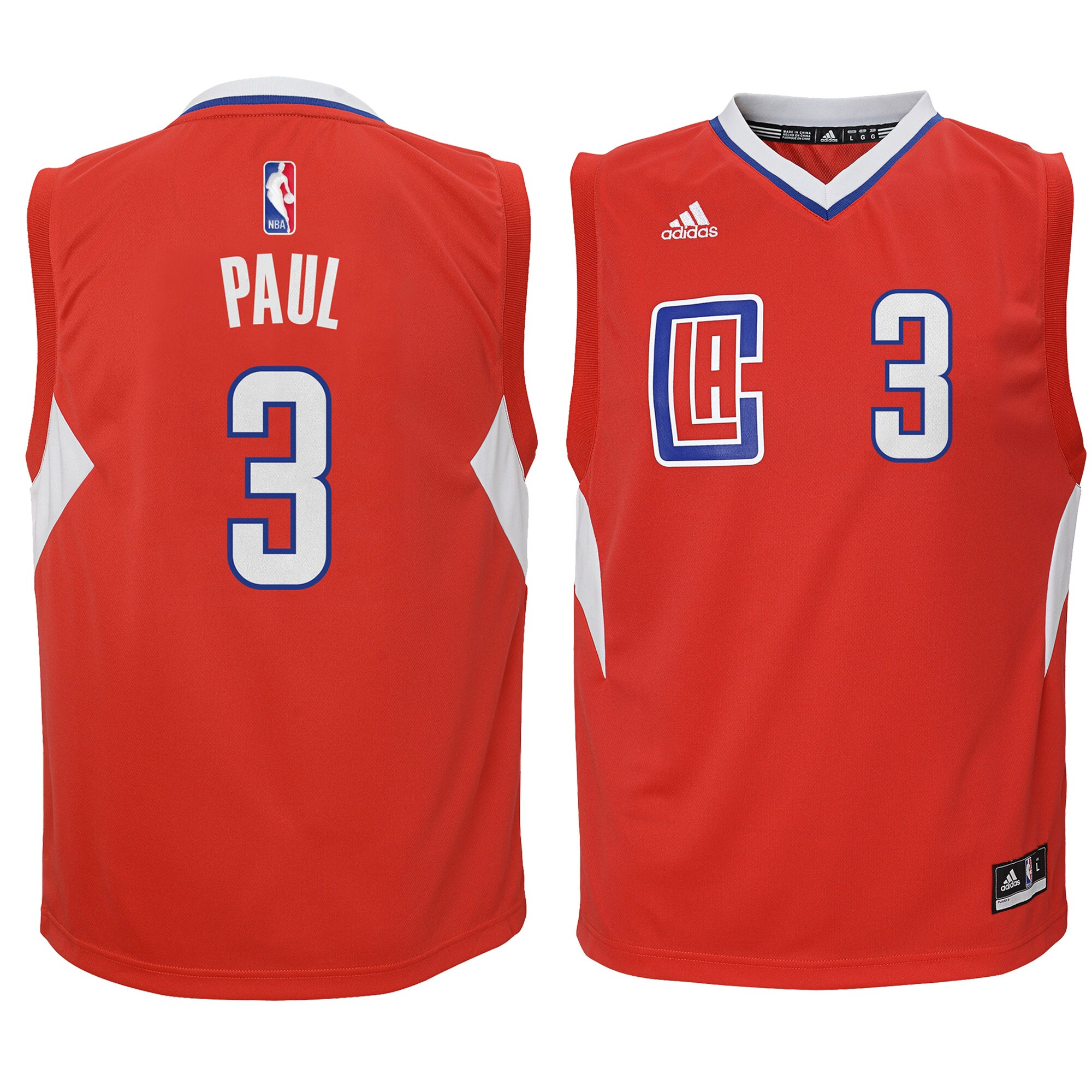 Chris Paul LA Clippers adidas Youth Replica Jersey - Red