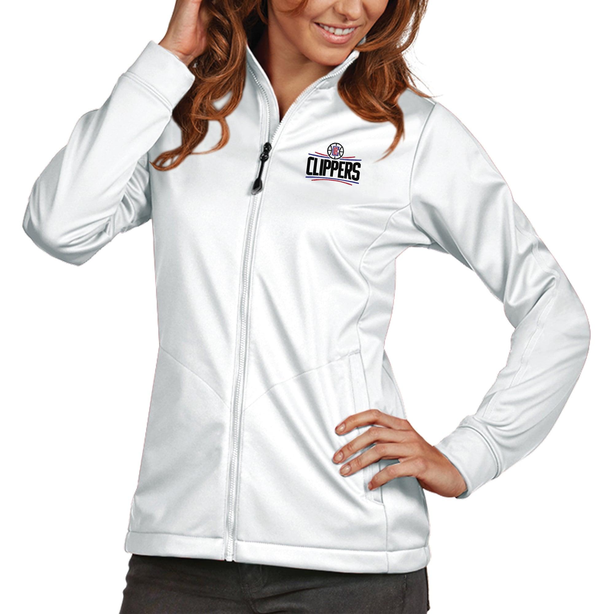 LA Clippers Antigua Women's Golf Full-Zip Jacket - White
