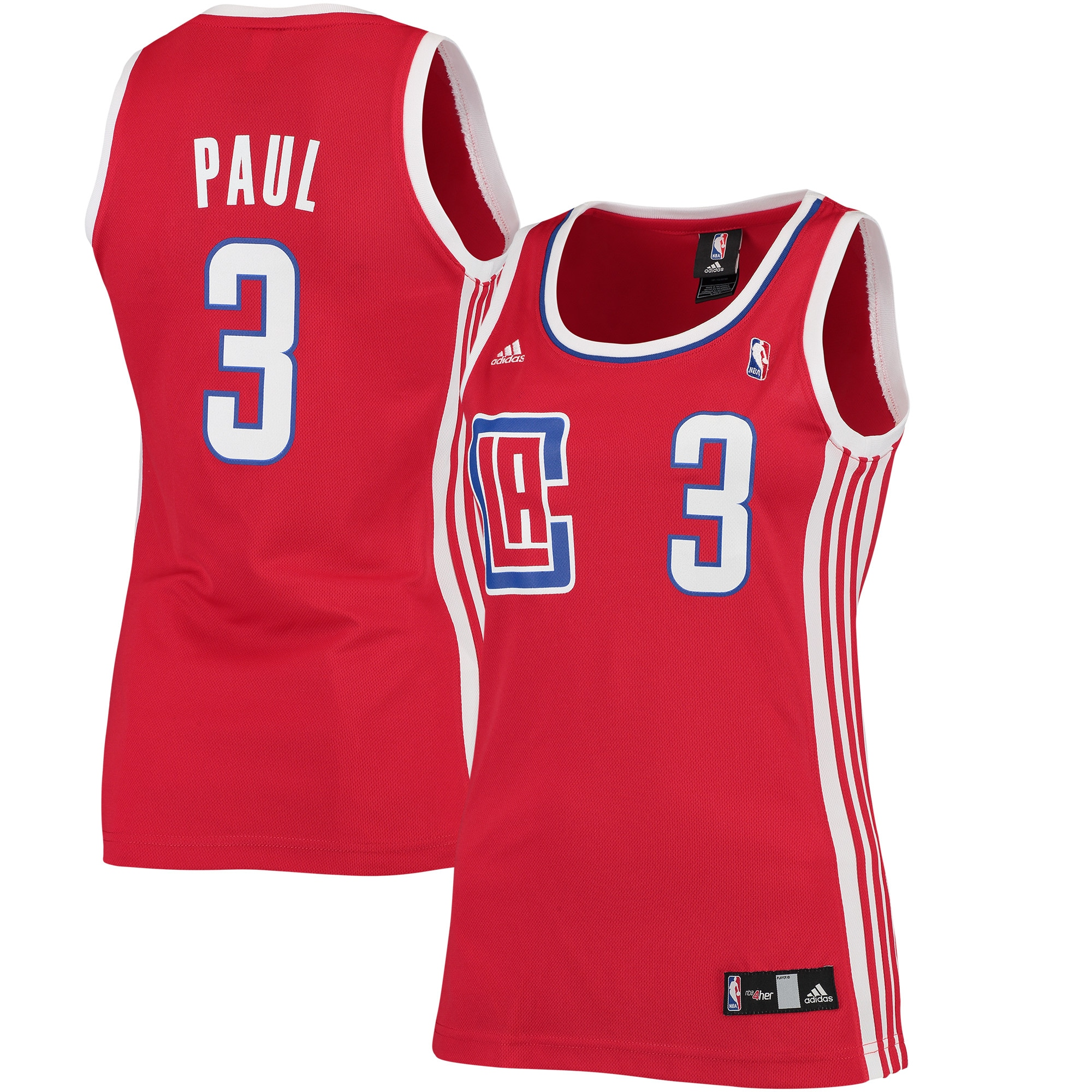 Chris Paul LA Clippers adidas Women's Road Replica Jersey - Red