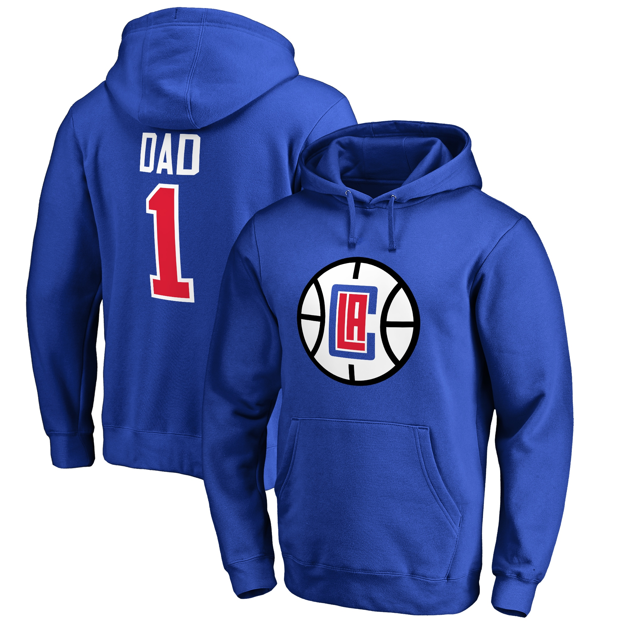 LA Clippers #1 Dad Pullover Hoodie - Royal