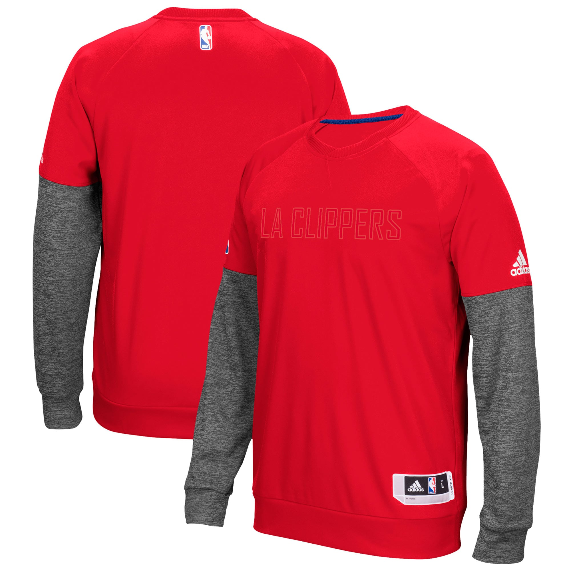 LA Clippers adidas 2016 Christmas Day Second Half Pullover Sweatshirt - Red