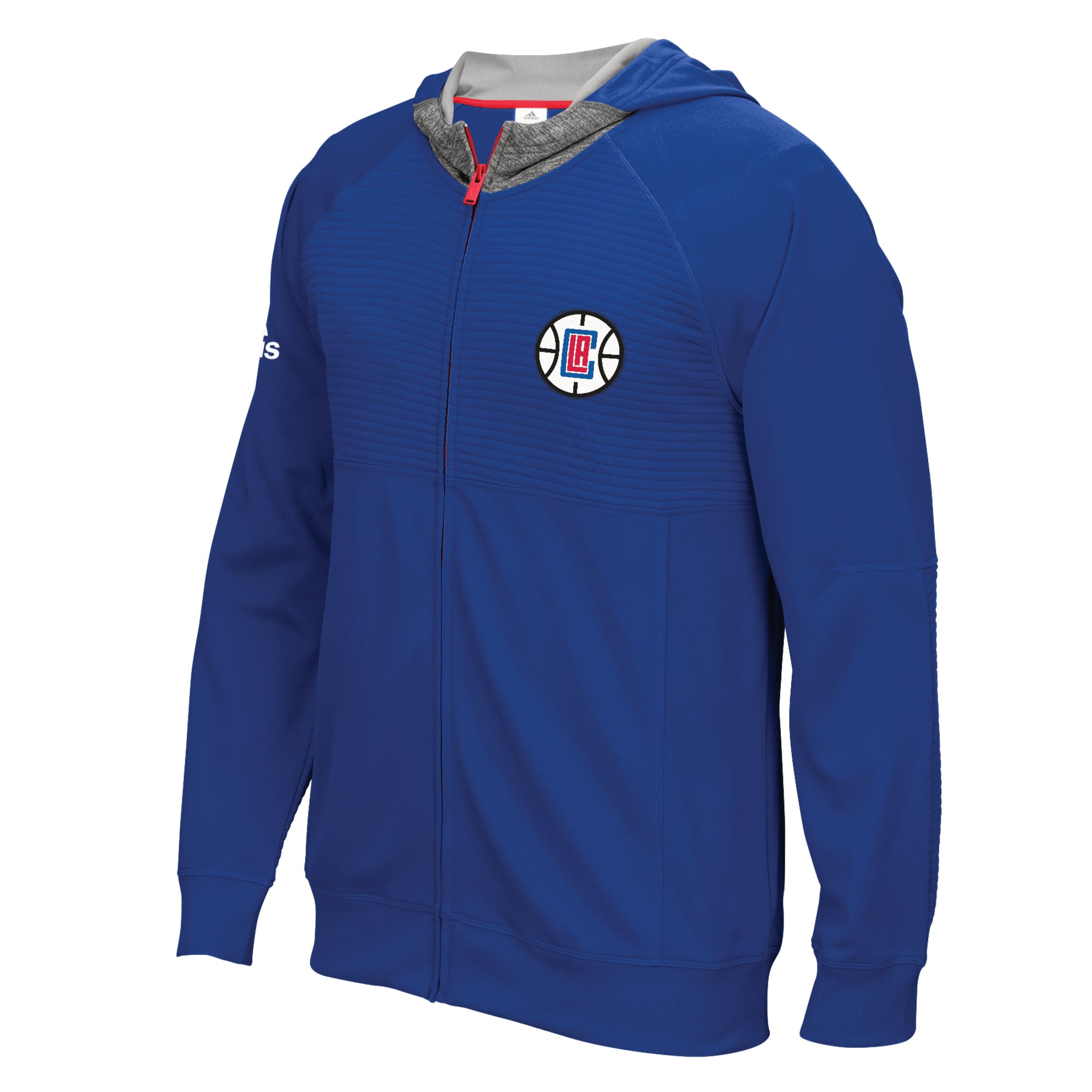LA Clippers adidas 2016 Pre-Game Full-Zip Hooded Jacket - Royal