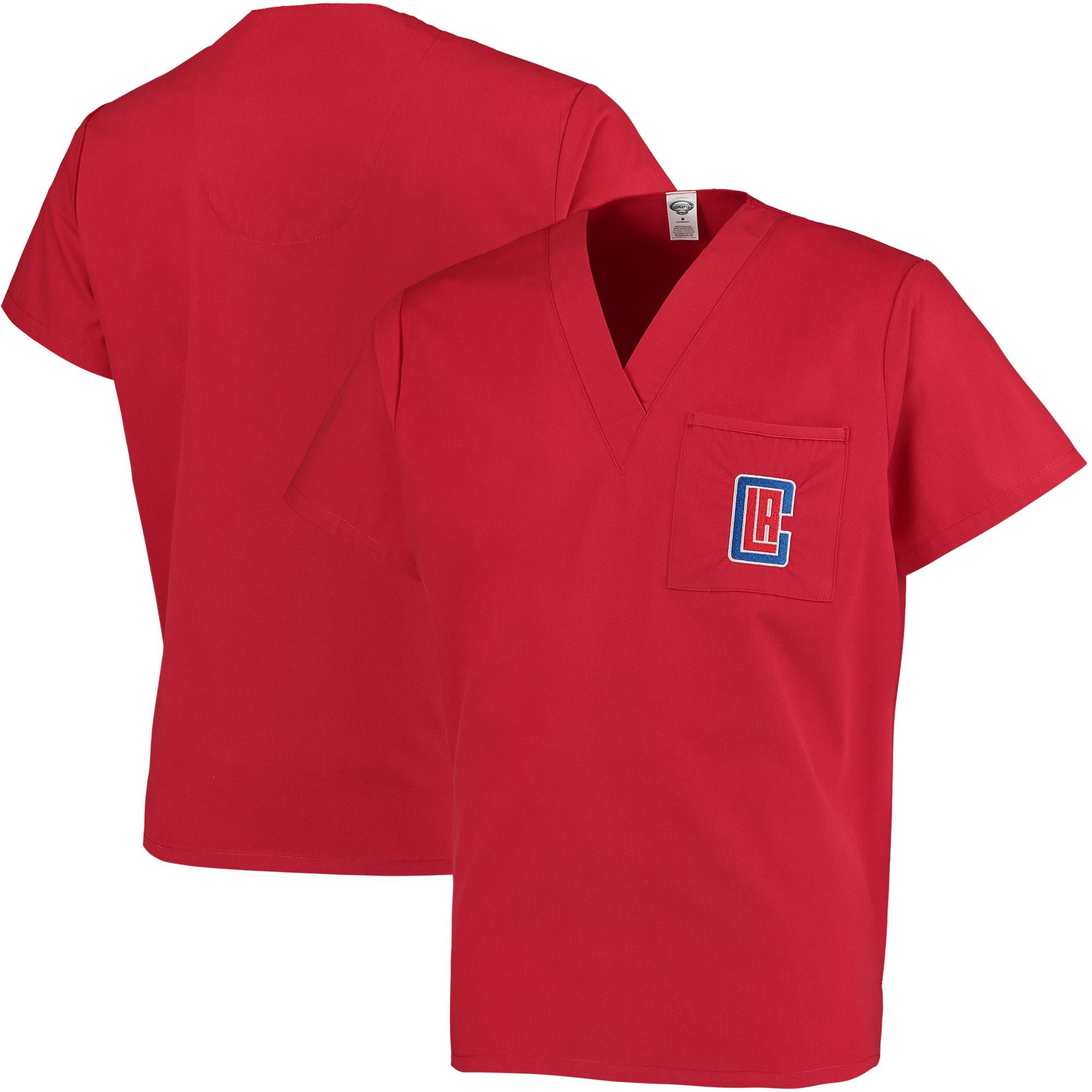 LA Clippers Concepts Sport Scrub Top - Red