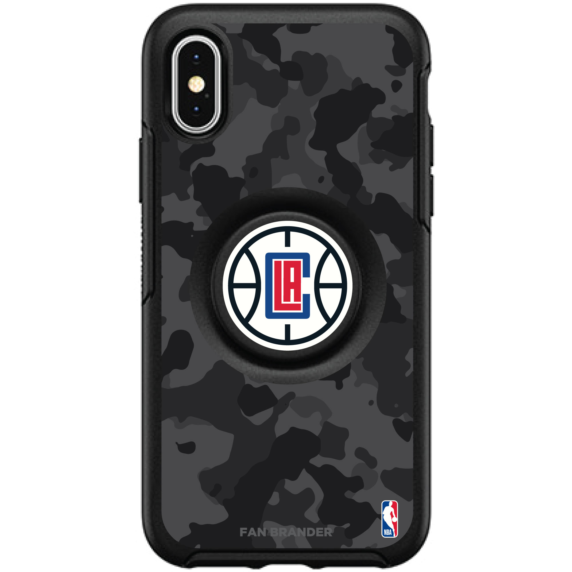 LA Clippers OtterBox Otter + PopSocket Symmetry Urban Camo iPhone Case