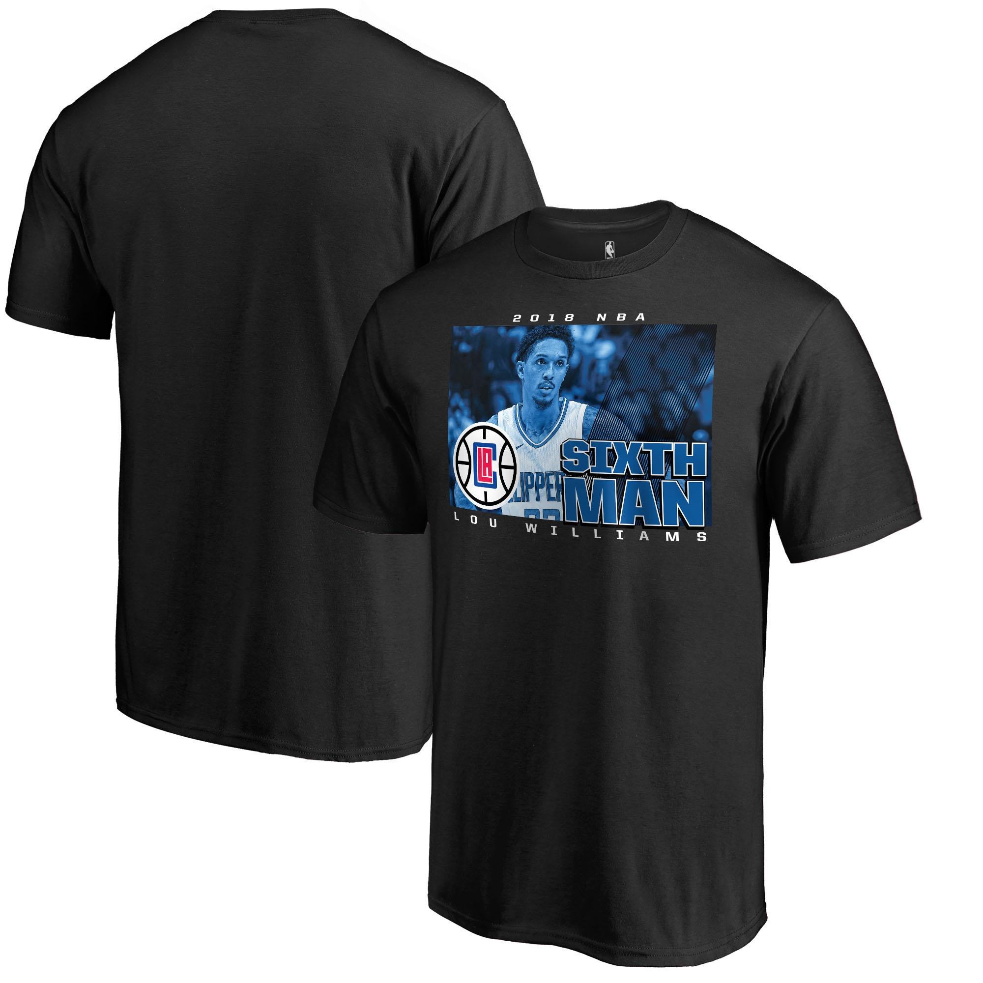 Lou Williams LA Clippers Fanatics Branded 2018 NBA 6th Man of the Year T-Shirt - Black
