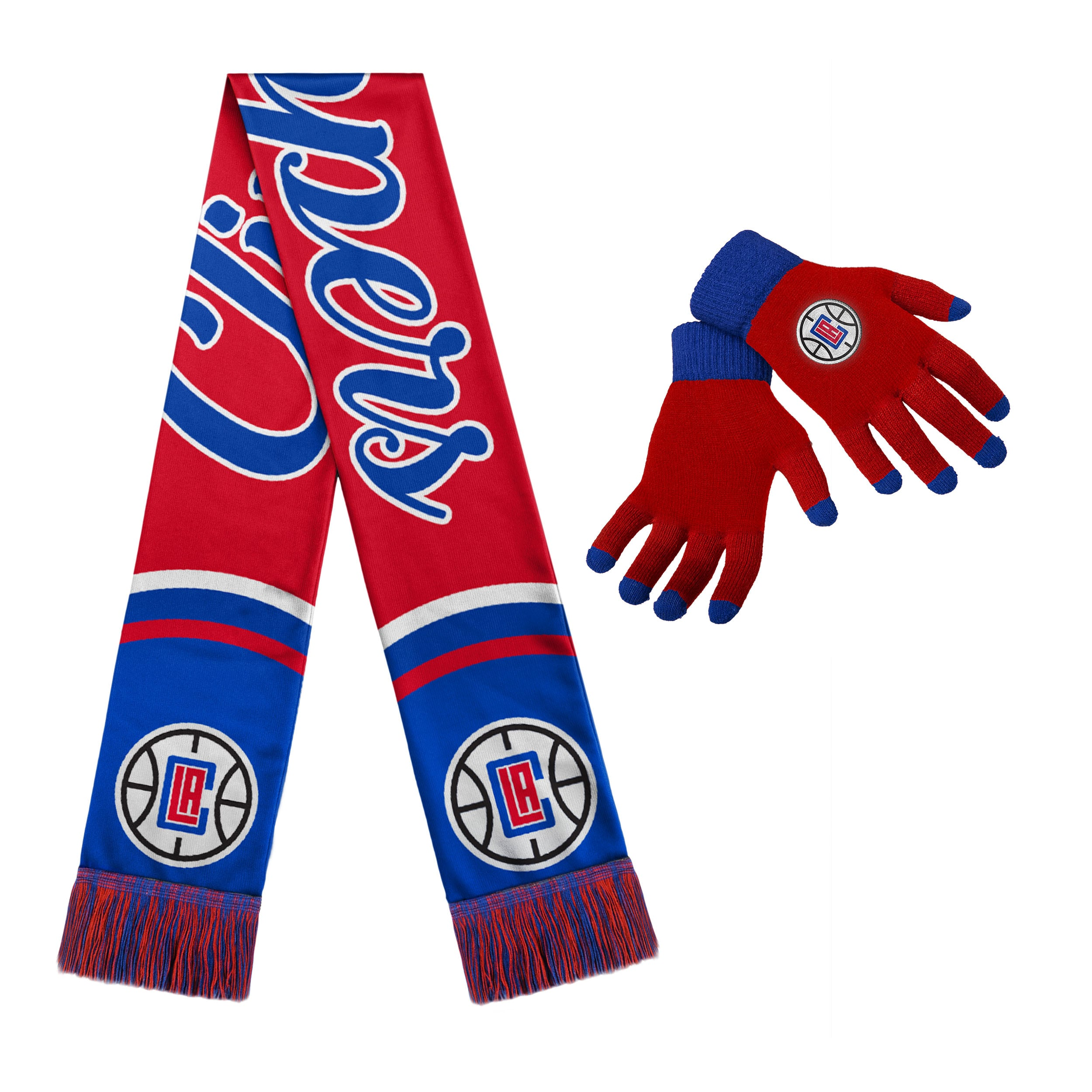 LA Clippers Women's Glove and Scarf Set