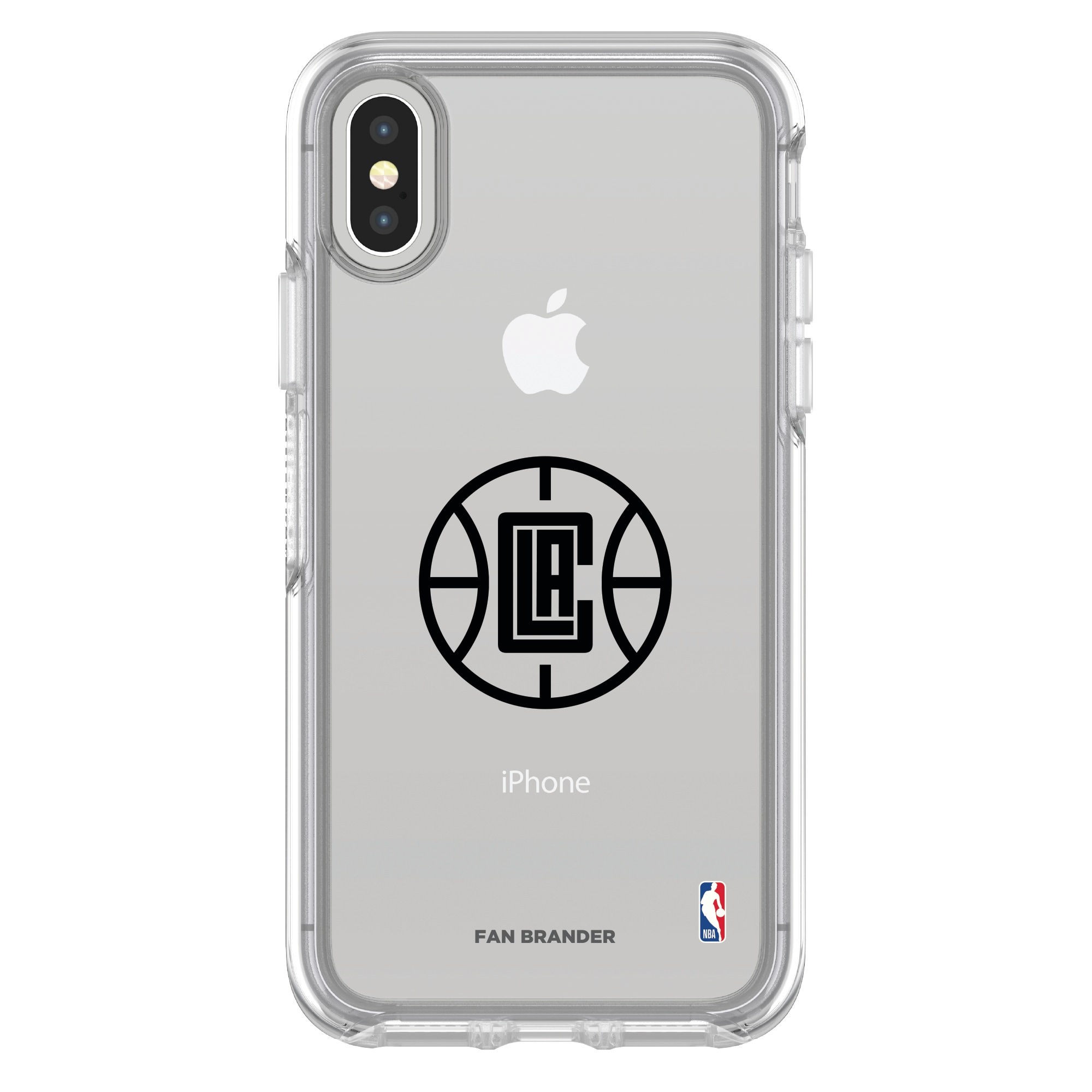 LA Clippers OtterBox Clear iPhone Symmetry Case