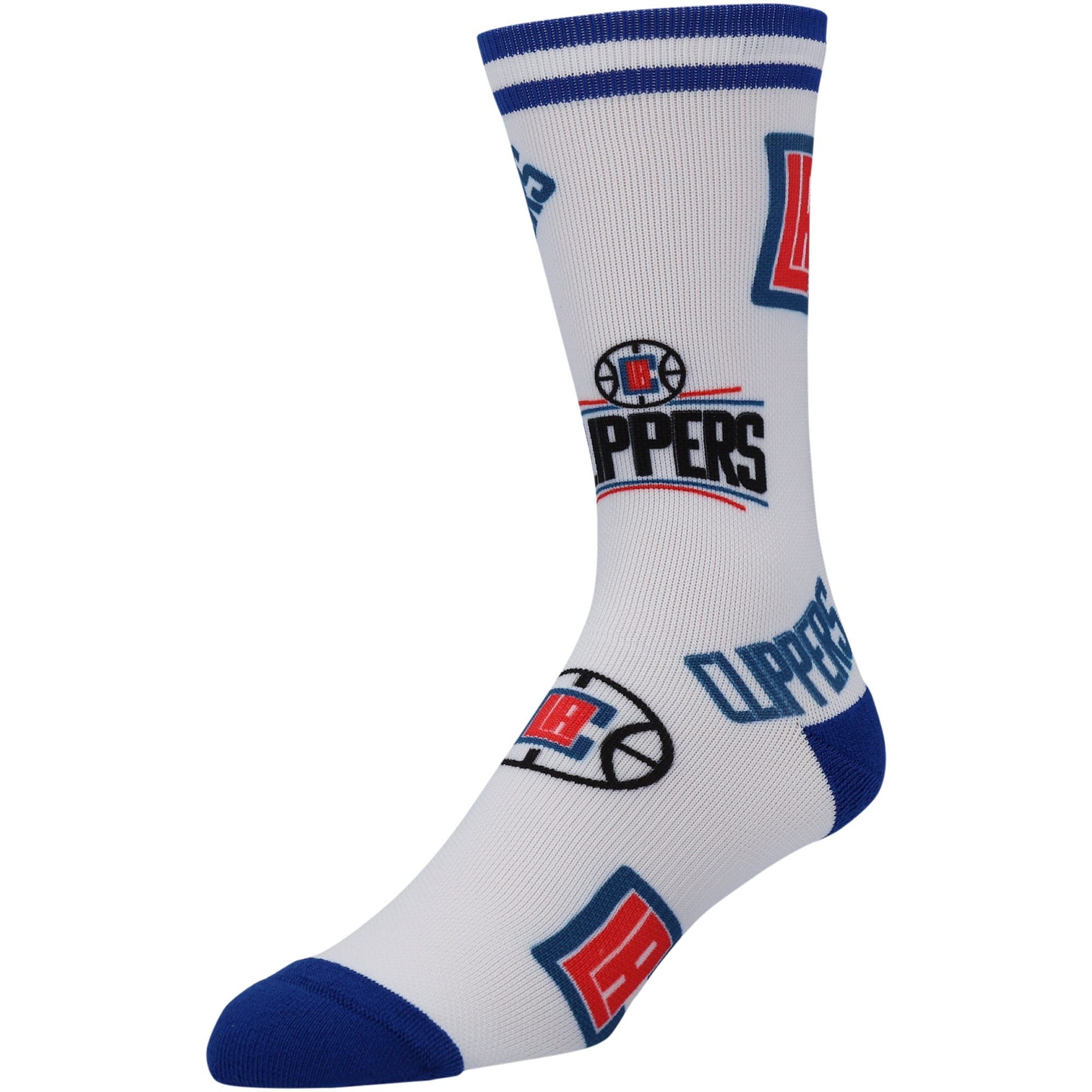 LA Clippers Panel Crew Socks