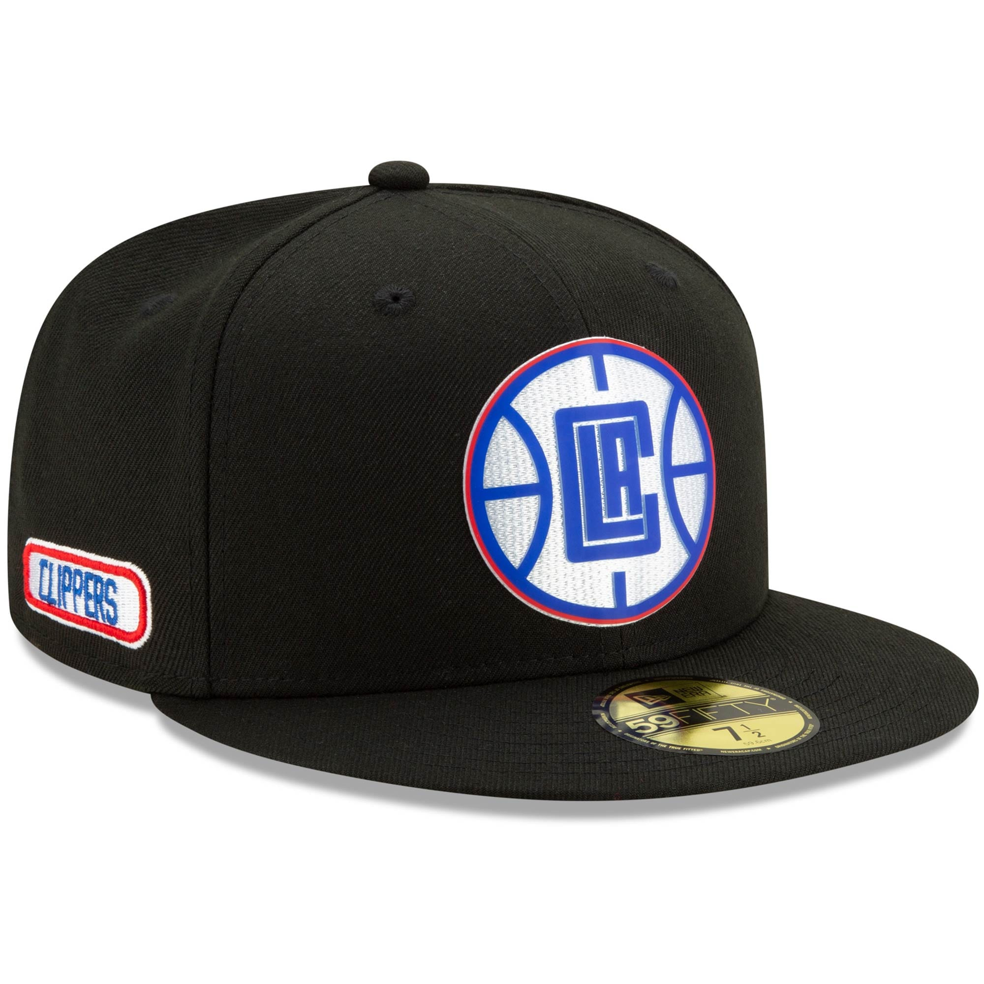 LA Clippers New Era Official Back Half 59FIFTY Fitted Hat - Black