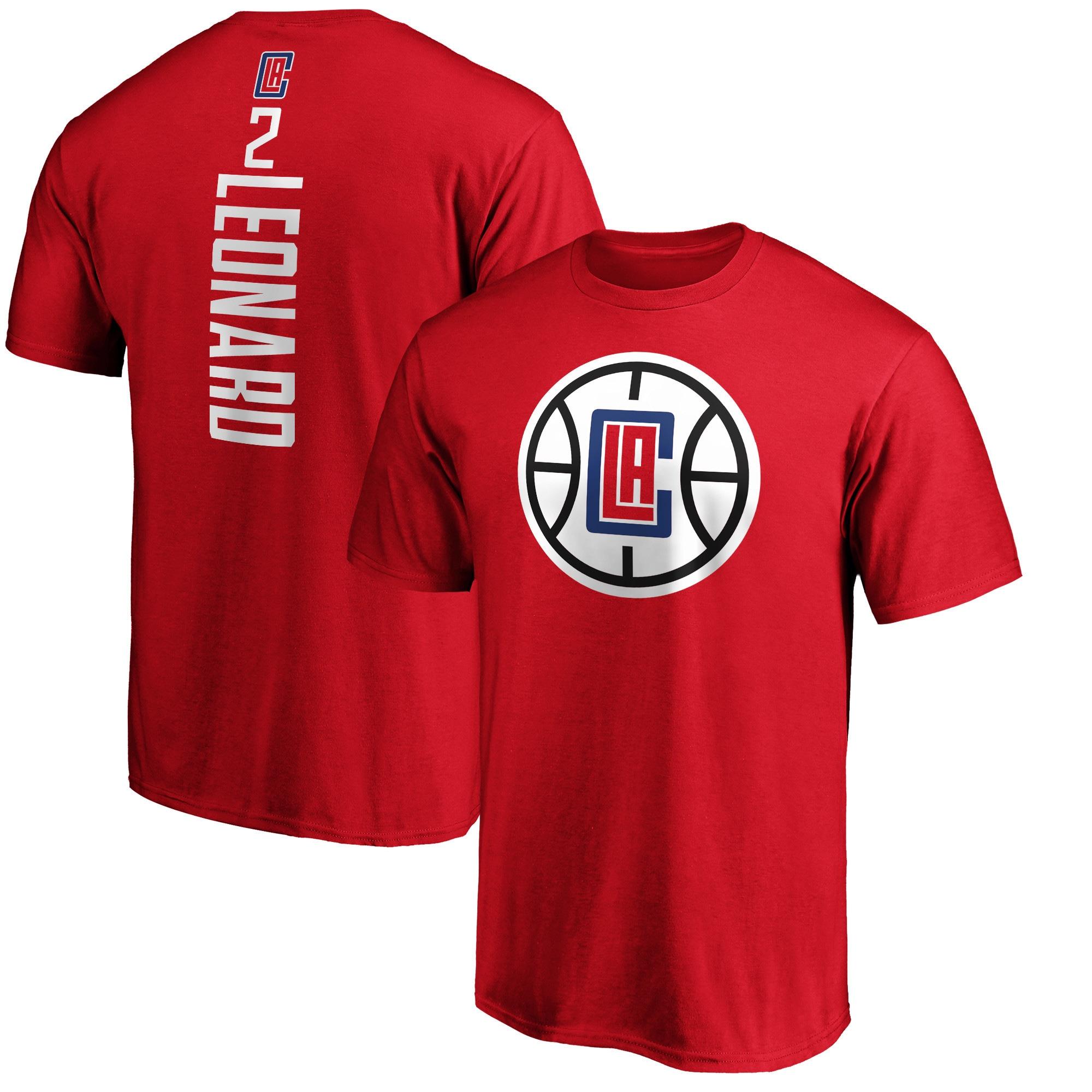 Kawhi Leonard LA Clippers Fanatics Branded Team Playmaker Name & Number T-Shirt - Red