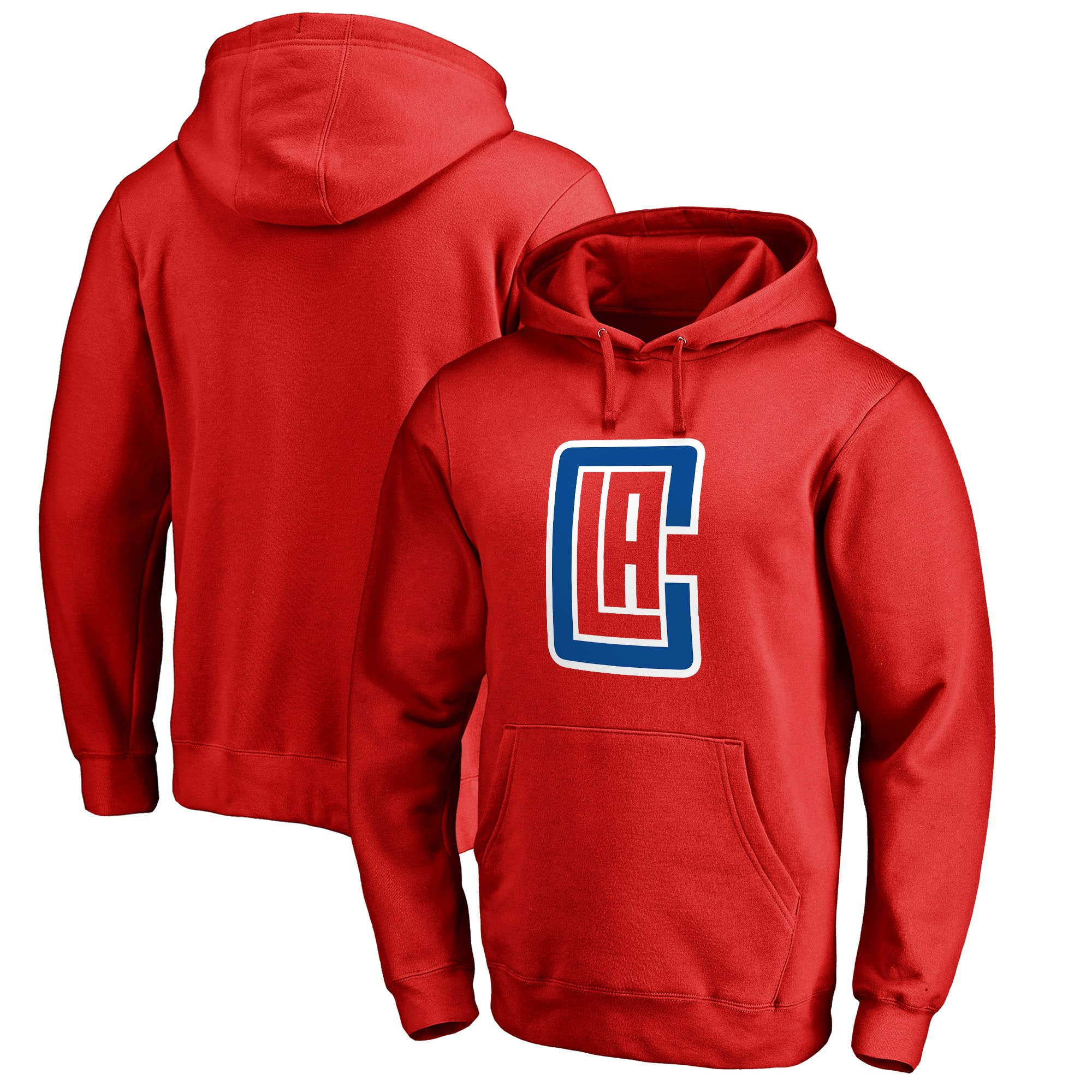 LA Clippers Fanatics Branded Alternate Logo Pullover Hoodie - Red