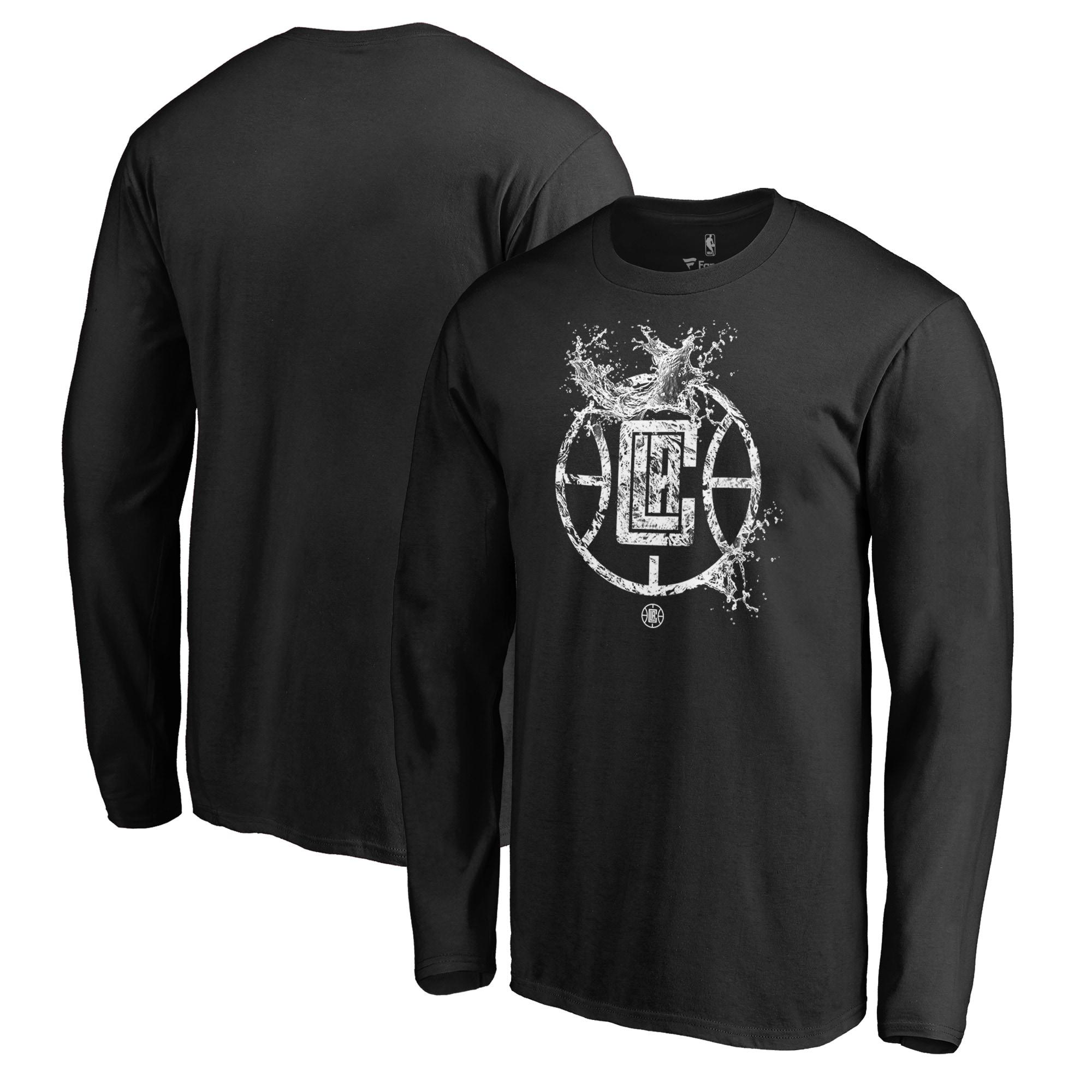 LA Clippers Fanatics Branded Splash Long Sleeve T-Shirt - Black