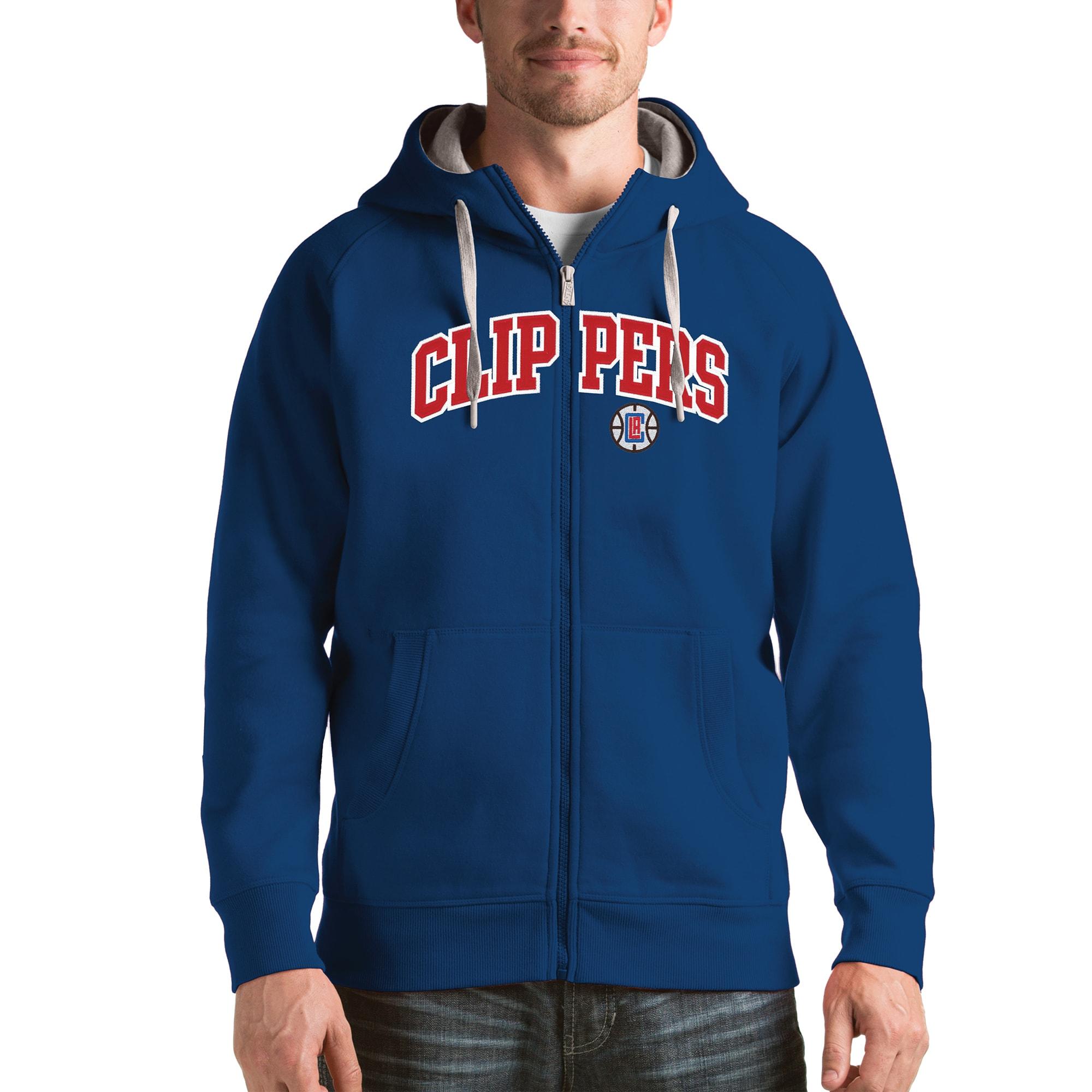 LA Clippers Antigua Victory Full Zip Hoodie - Royal