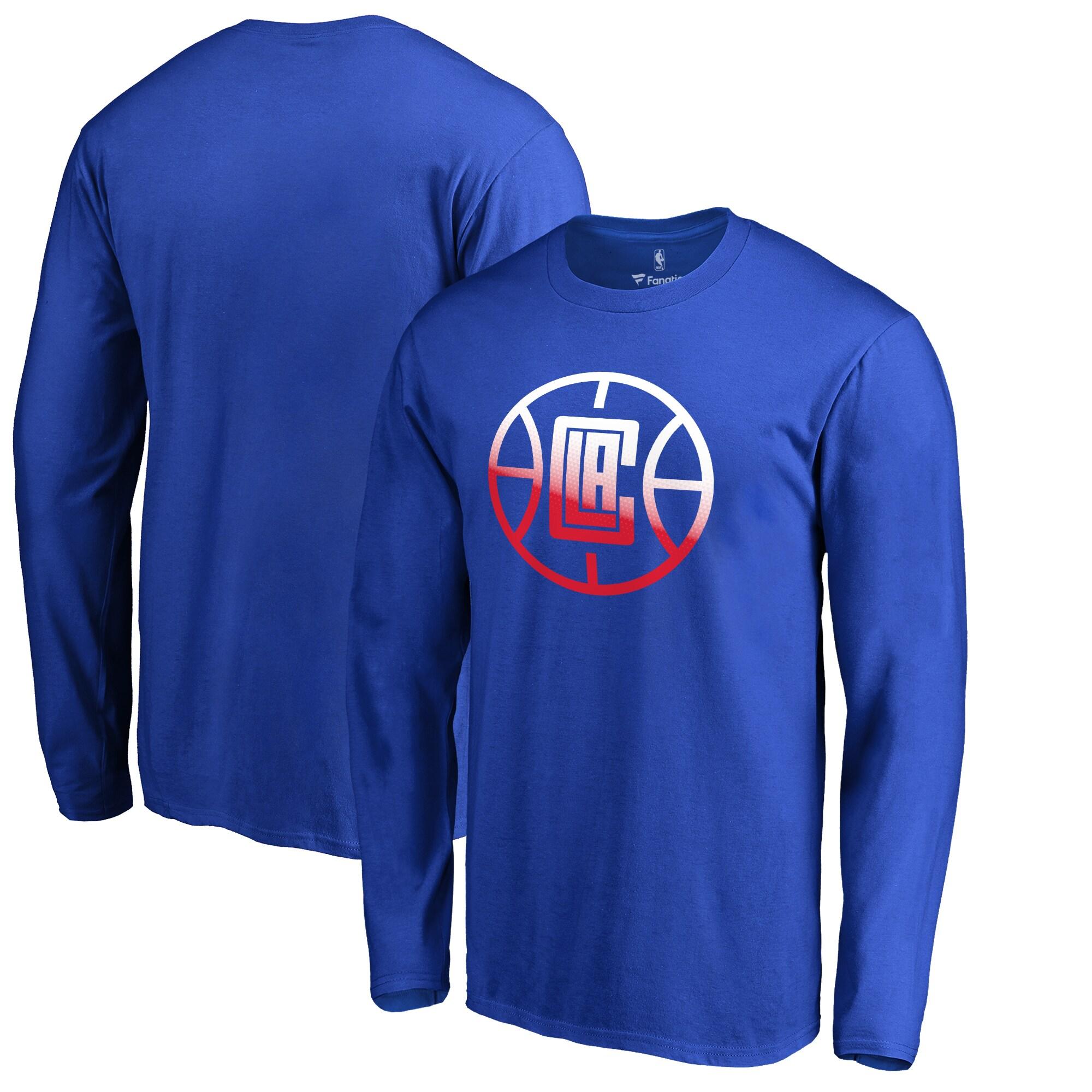 LA Clippers Fanatics Branded Gradient Logo Long Sleeve T-Shirt - Royal