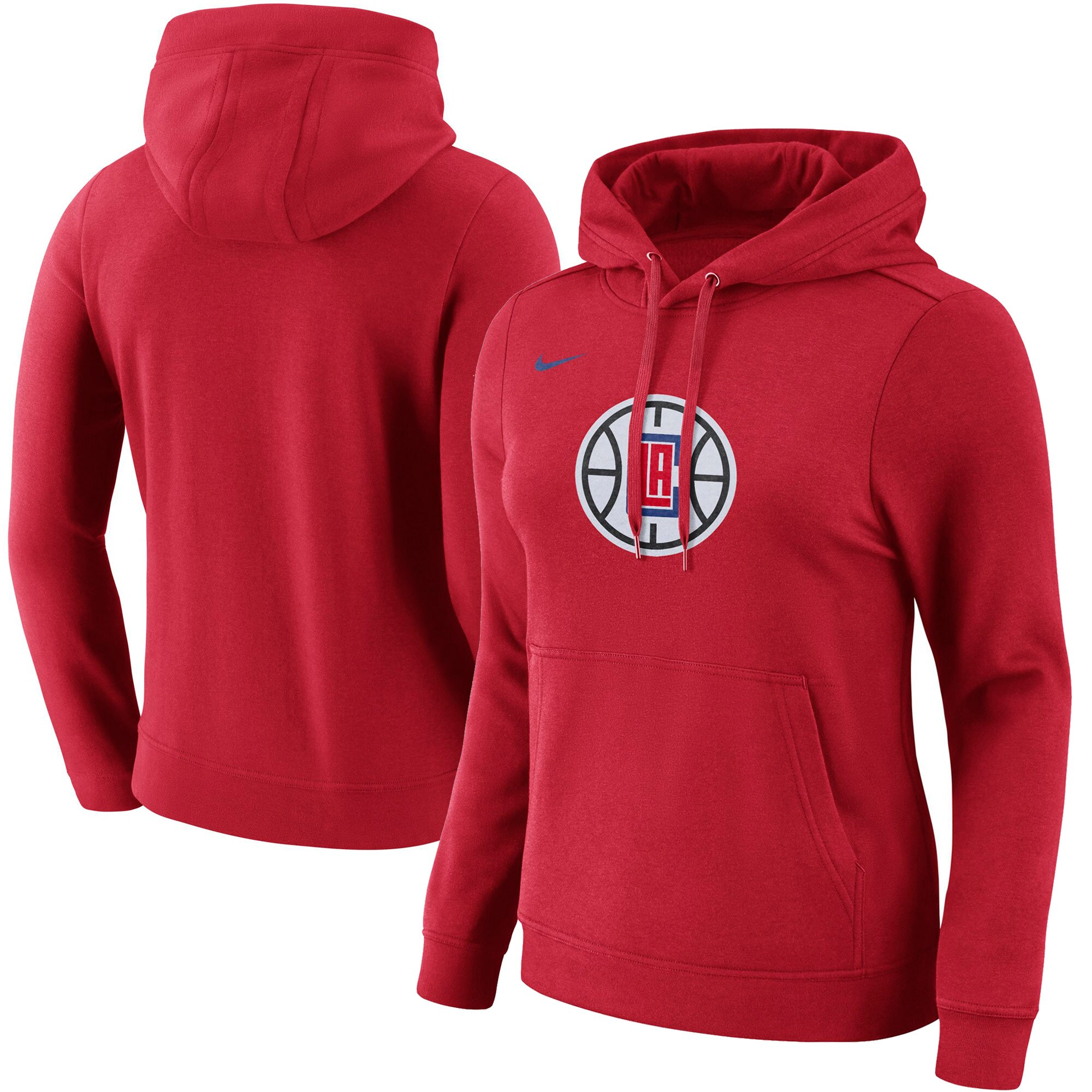 LA Clippers Nike Women's Primary Logo Pullover Hoodie - Red