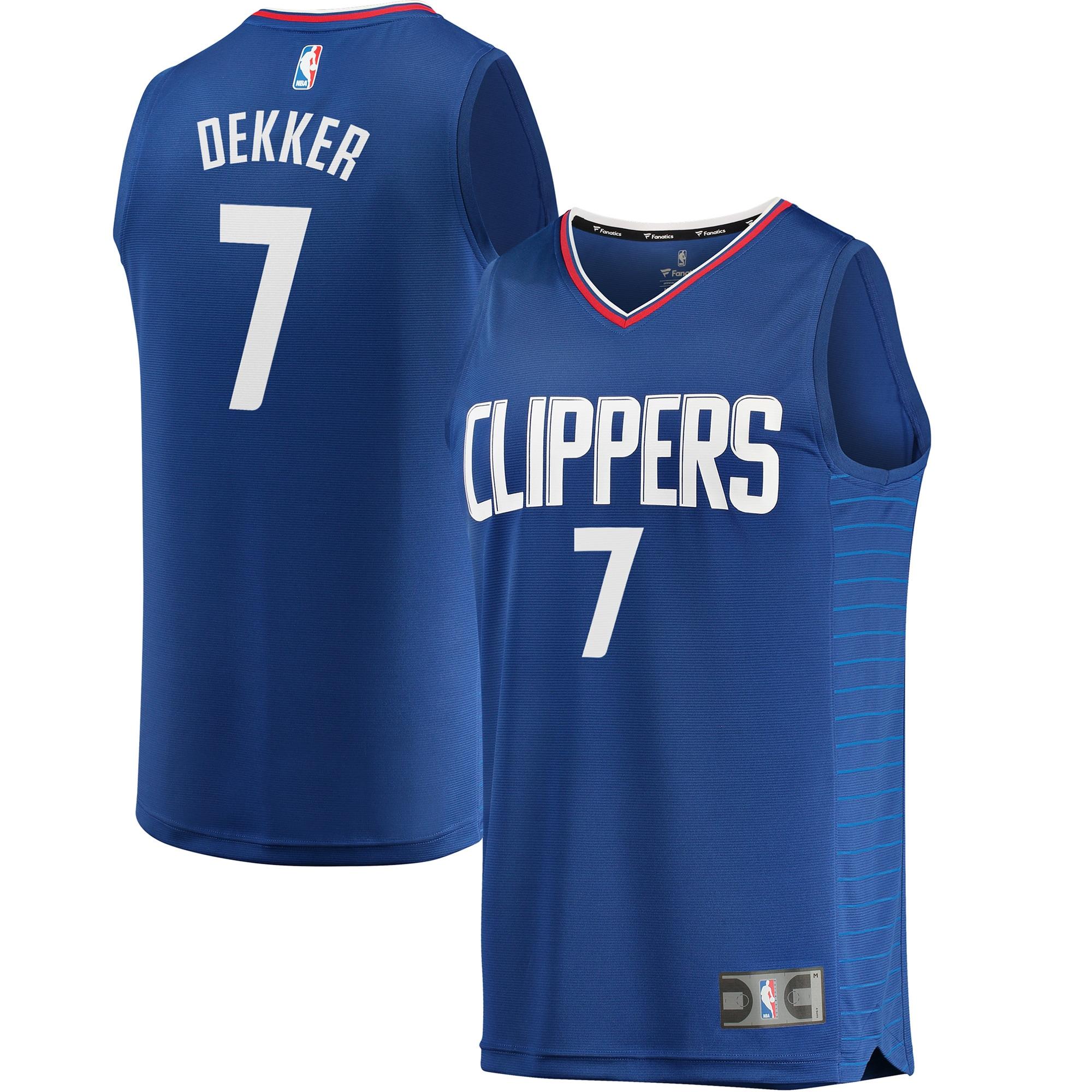 Sam Dekker LA Clippers Fanatics Branded Fast Break Replica Jersey Blue - Icon Edition
