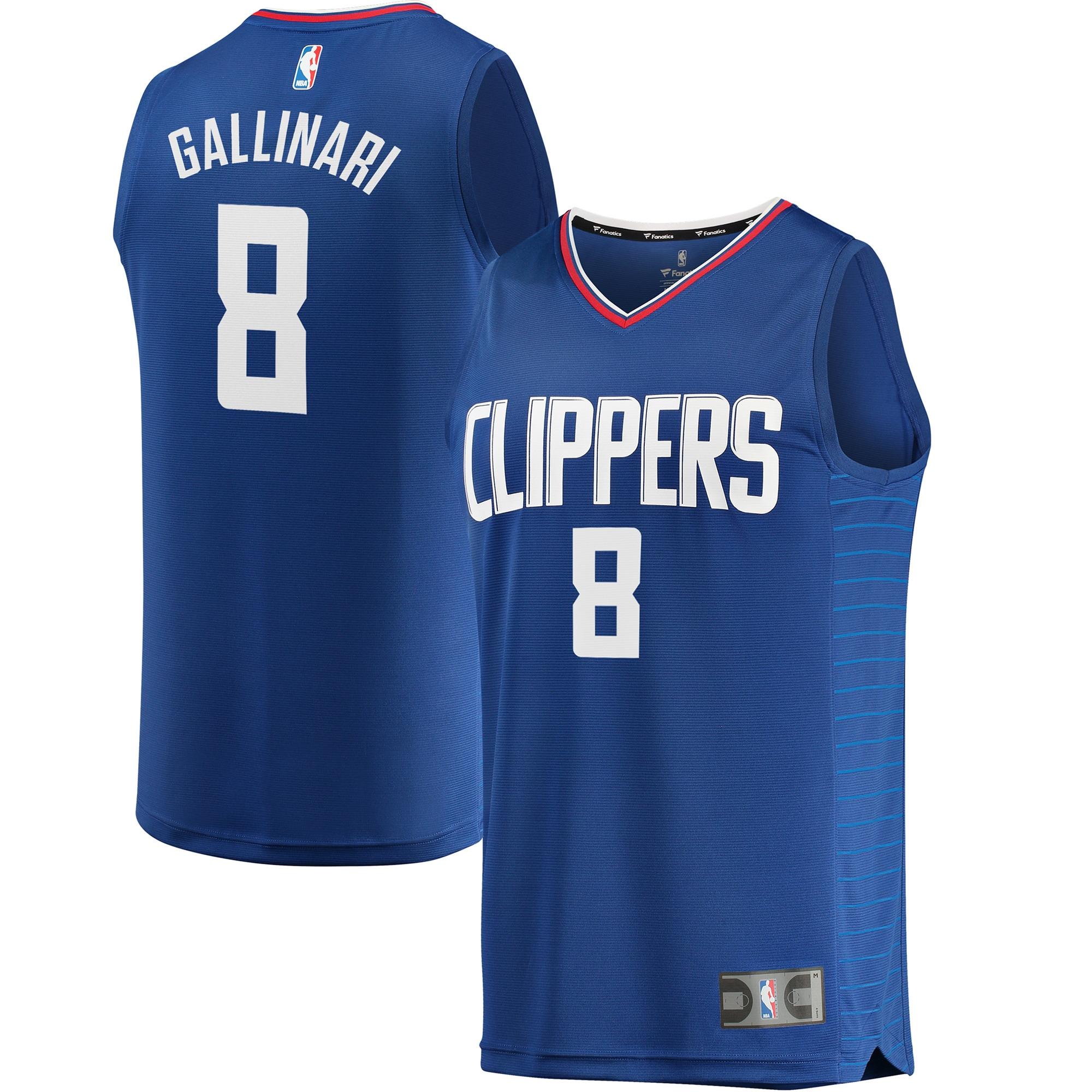 Danilo Gallinari LA Clippers Fanatics Branded Fast Break Replica Jersey Blue - Icon Edition