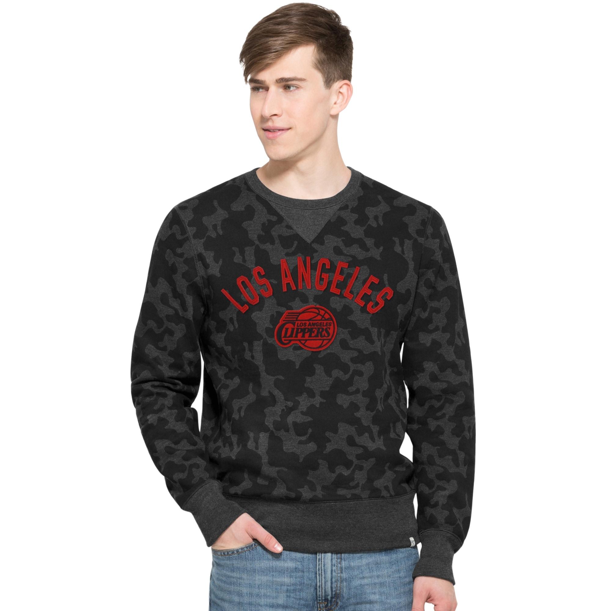LA Clippers '47 Brand Stealth Camo Sweatshirt - Black