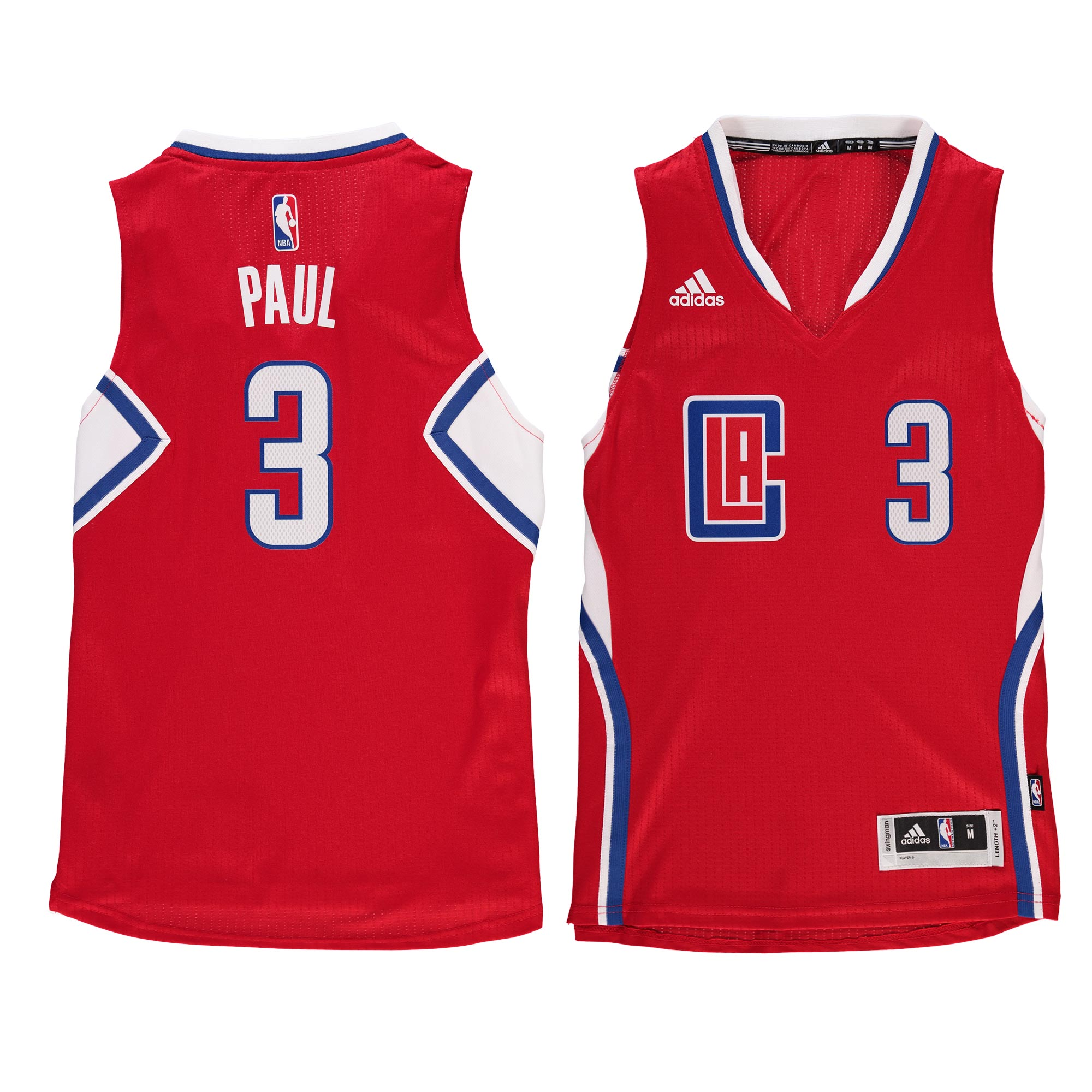 Chris Paul LA Clippers Youth Swingman Basketball Jersey - Red