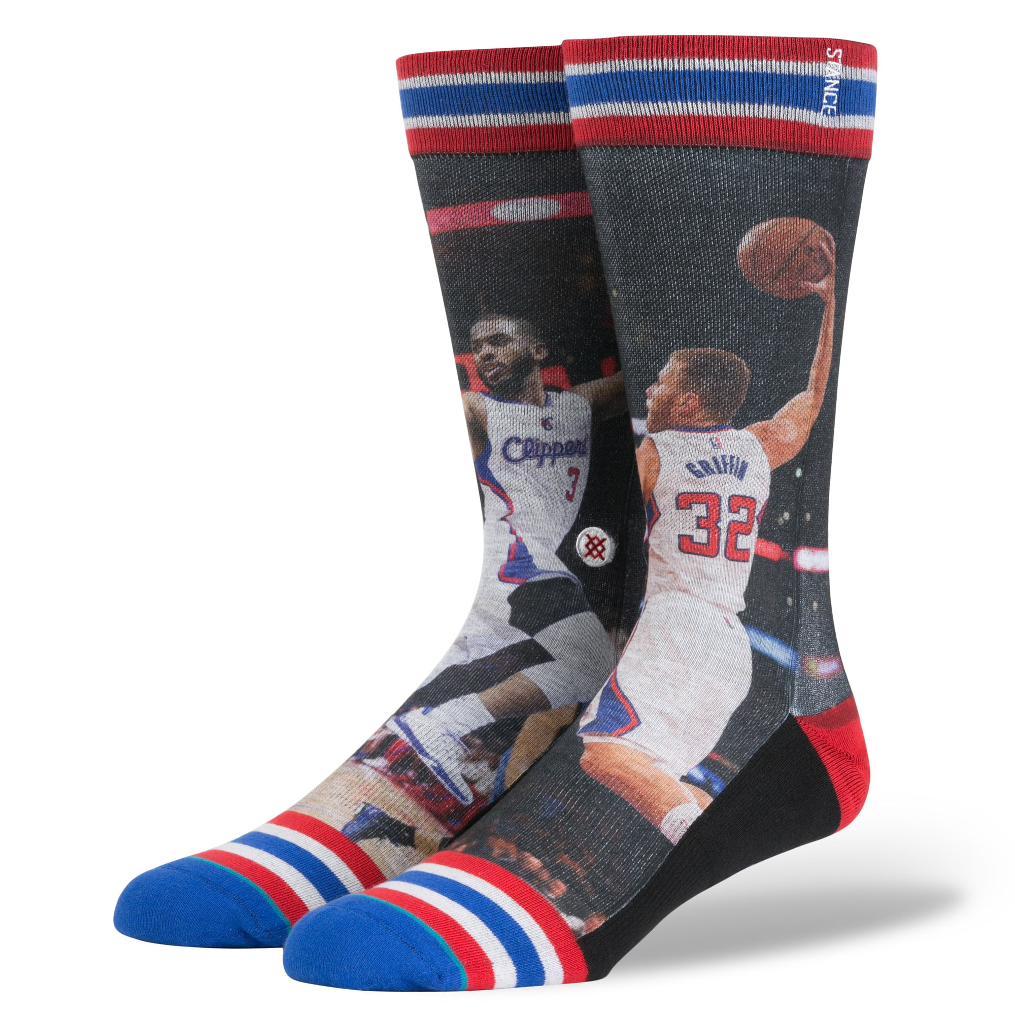 Blake Griffin LA Clippers Stance NBA Current Players Socks