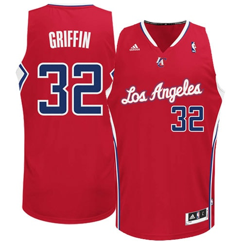 Blake Griffin LA Clippers adidas Swingman Road Jersey - Red