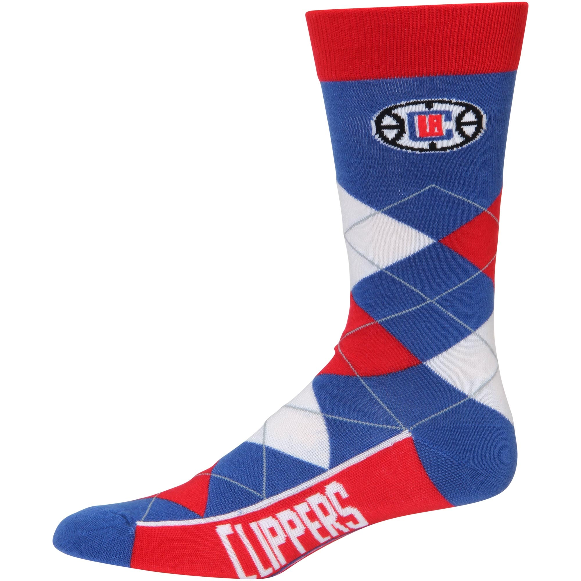 LA Clippers For Bare Feet Argyle Crew Socks