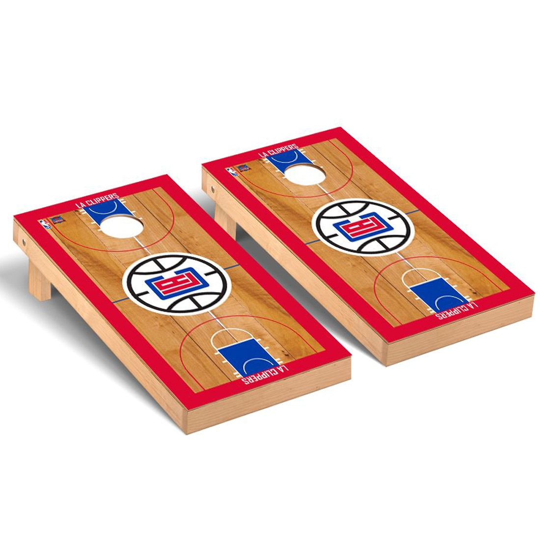 LA Clippers 2' x 4' Court Cornhole Game Set