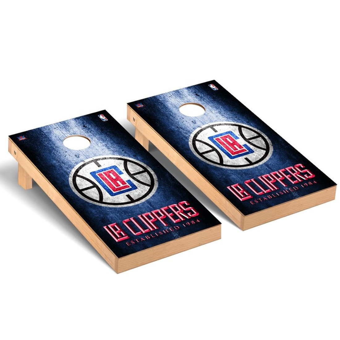 LA Clippers 2' x 4' Metal Design Cornhole Game Set