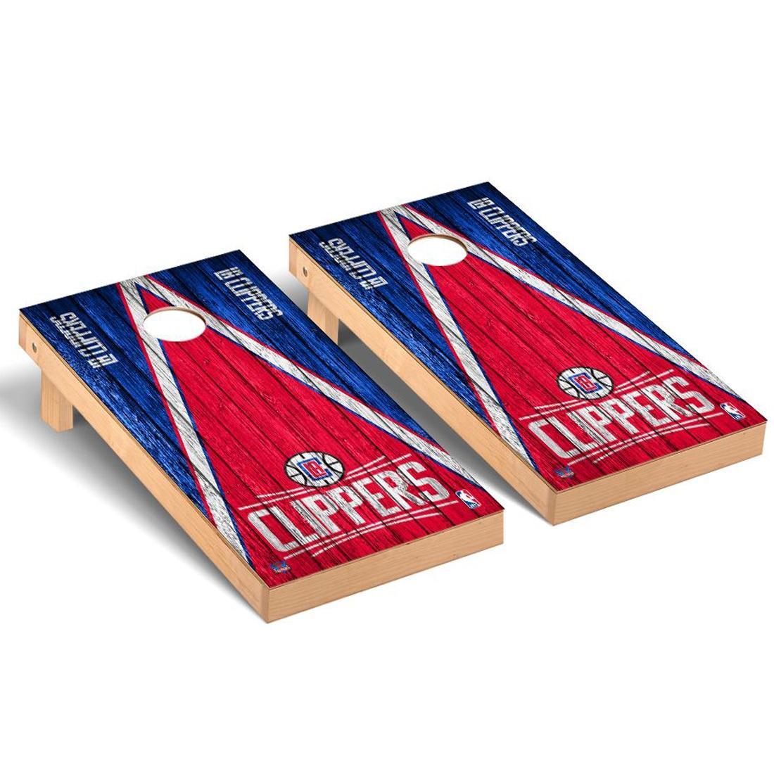 LA Clippers 2' x 4' Weathered Cornhole Game Set