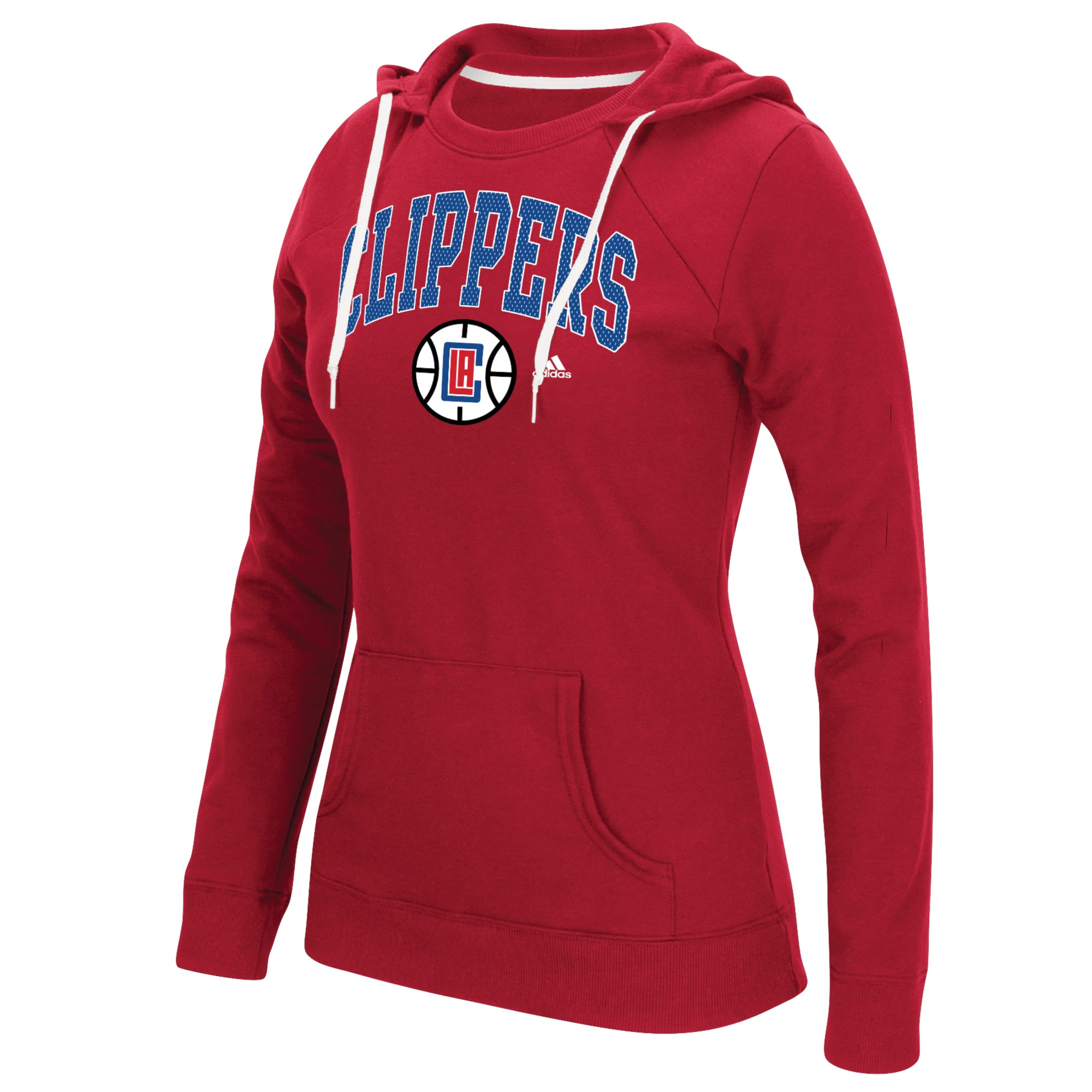 LA Clippers adidas Women's Outline Big Arch Hoodie - Red