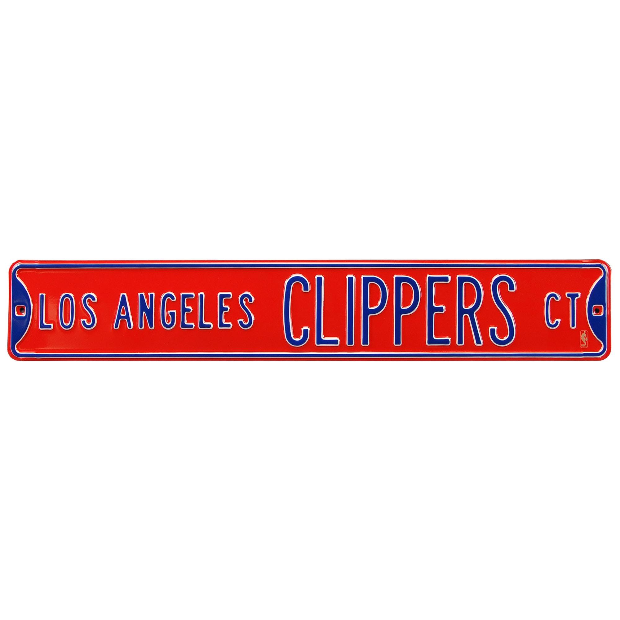 "LA Clippers 6"" x 36"" Steel Street Sign"
