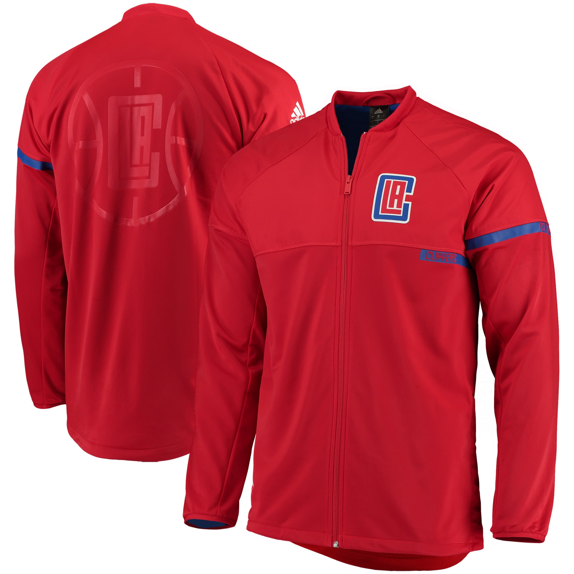 LA Clippers adidas 2016 On-Court Full-Zip Jacket - Red