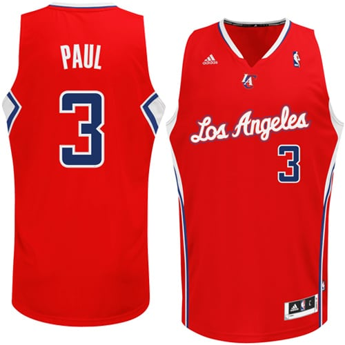 Chris Paul LA Clippers adidas Swingman Road Jersey - Red