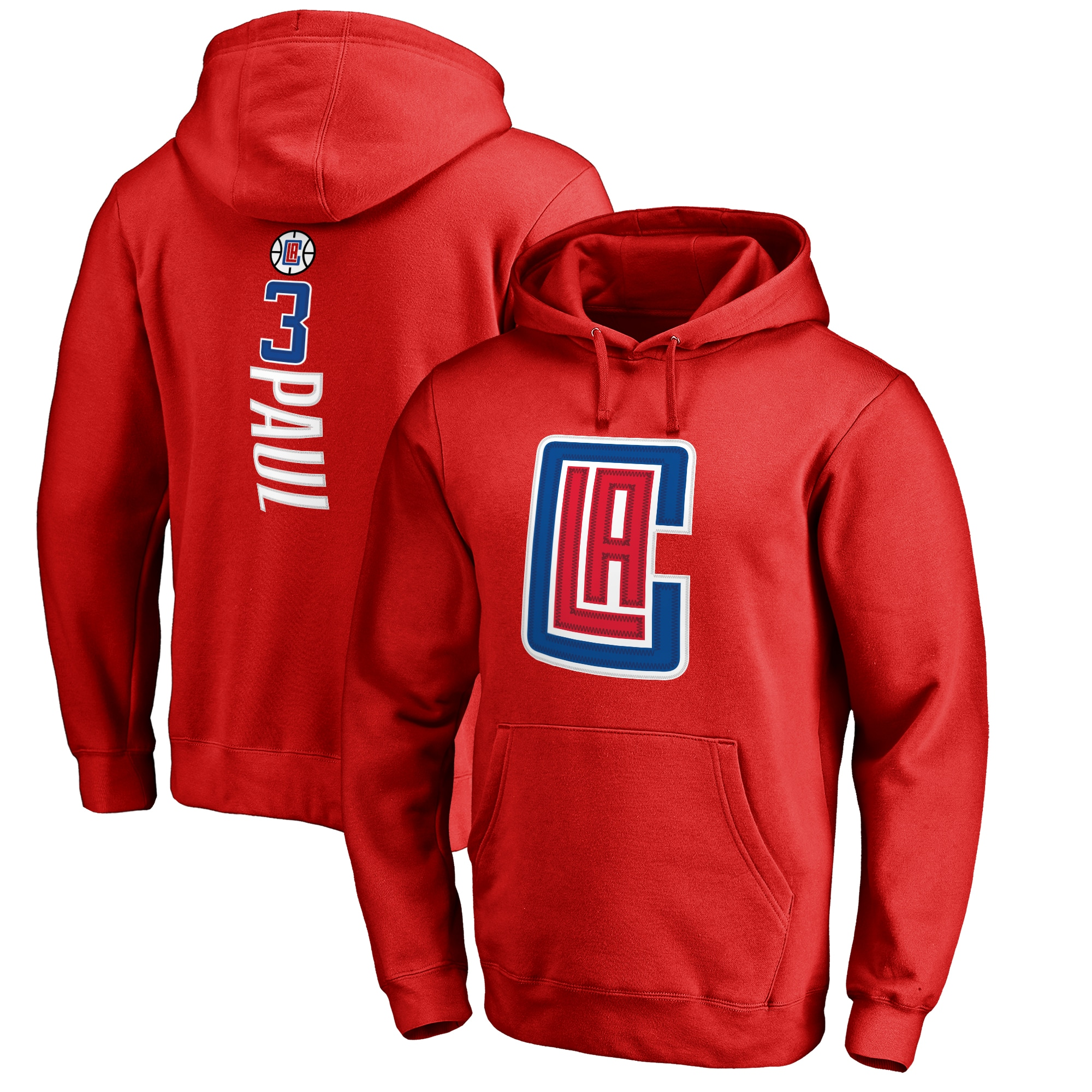 Chris Paul LA Clippers Fanatics Branded Backer 3 Pullover Hoodie - Red