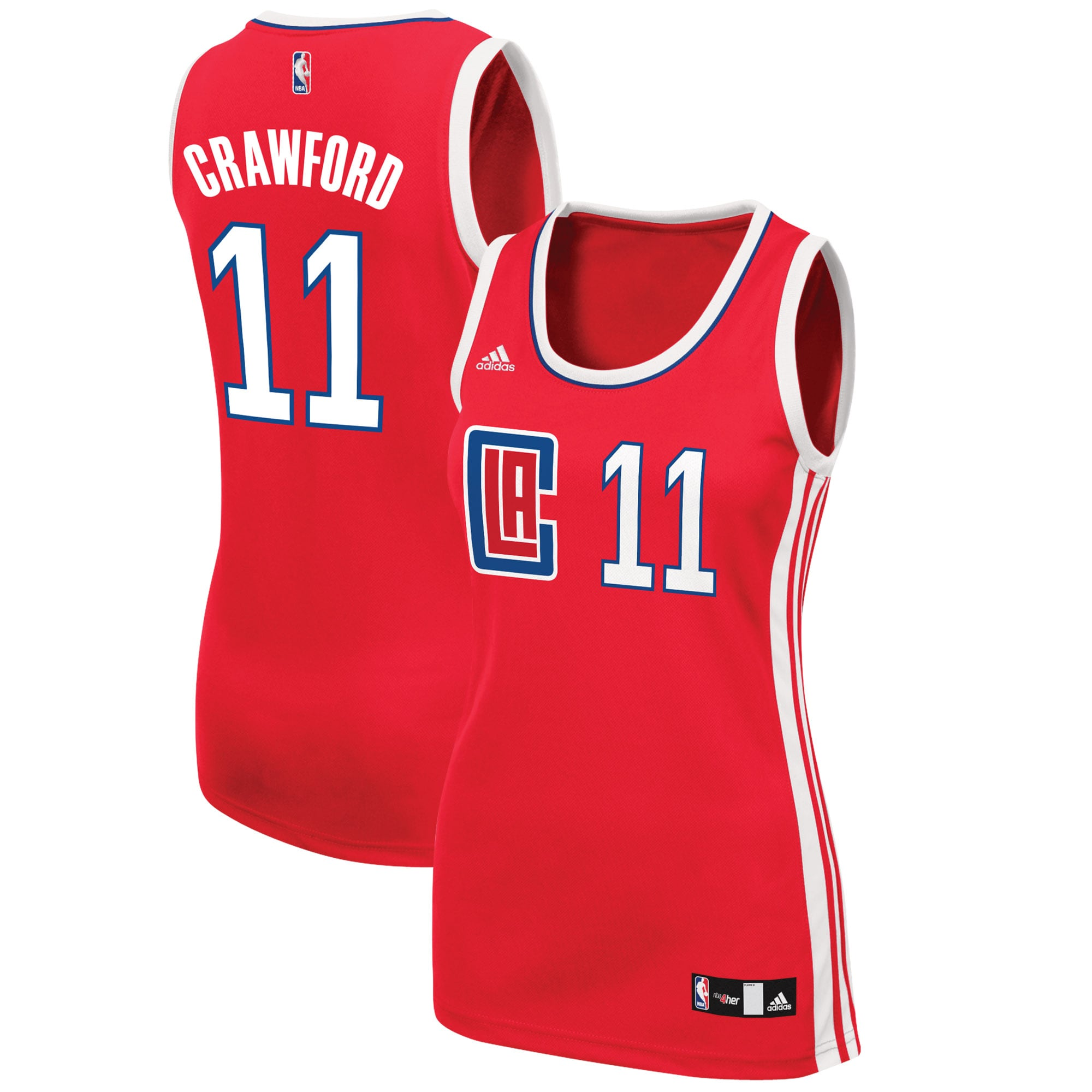 Jamal Crawford LA Clippers adidas Women's Road Replica Jersey - Red