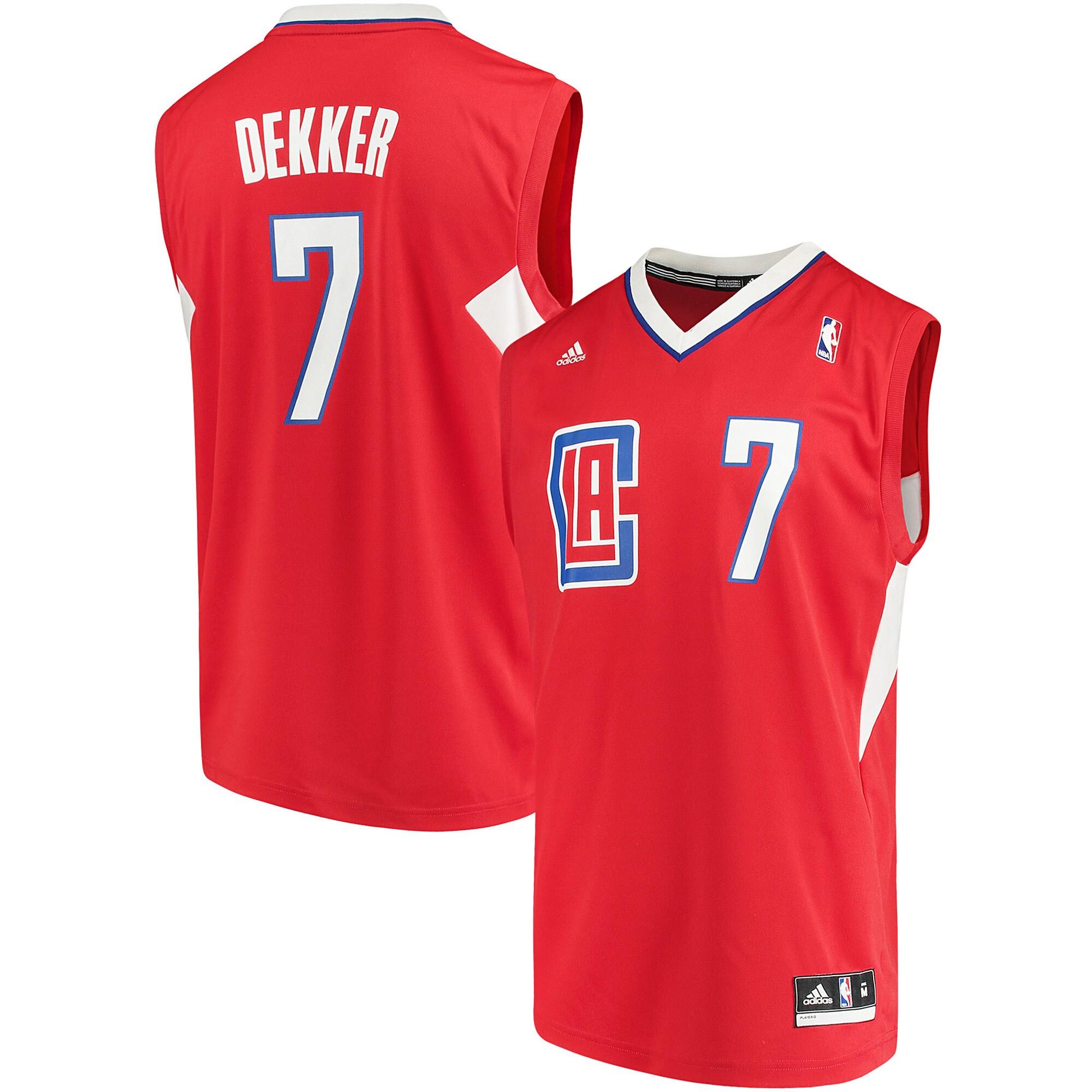Sam Dekker LA Clippers adidas Road Replica Jersey - Red