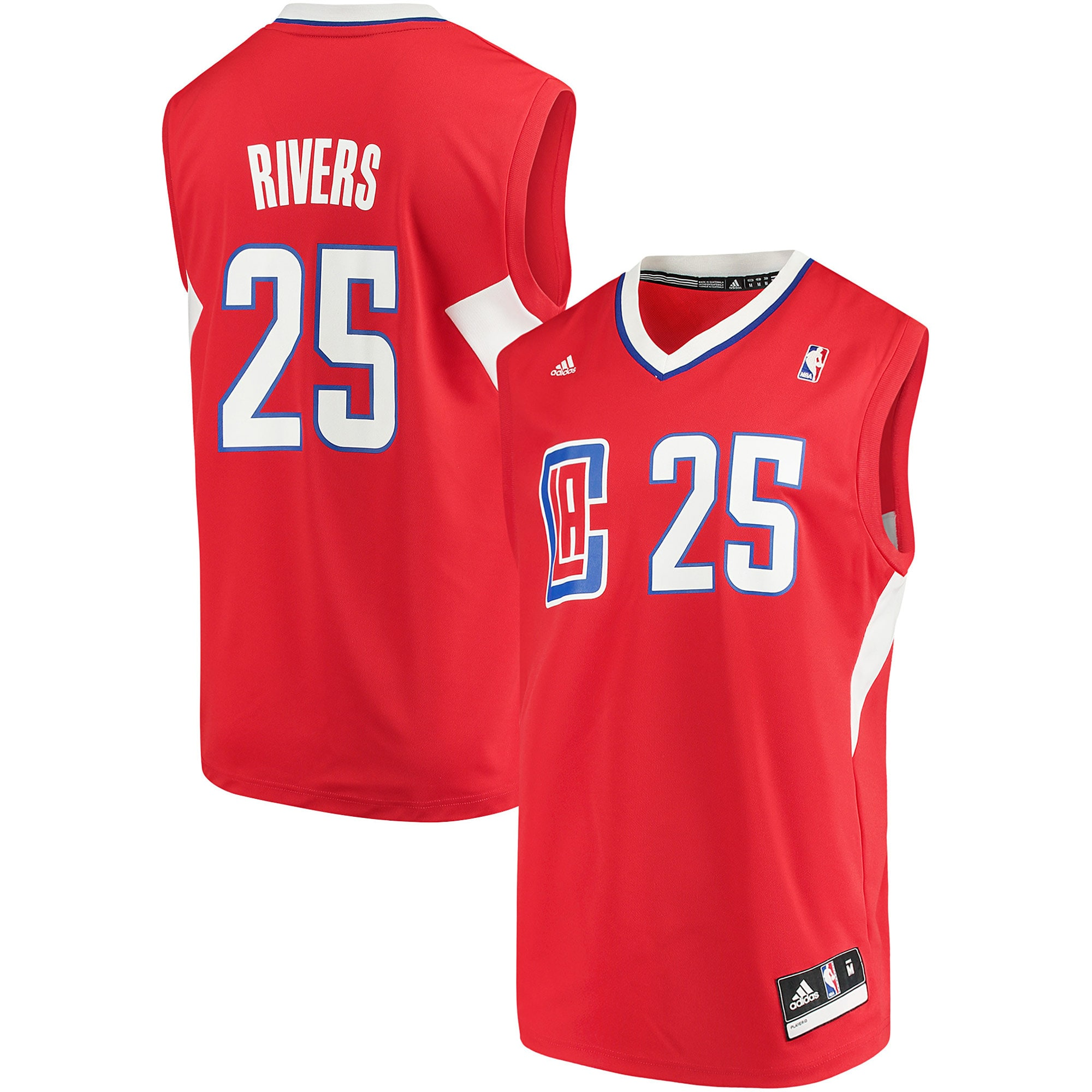 Austin Rivers LA Clippers adidas Road Replica Jersey - Red